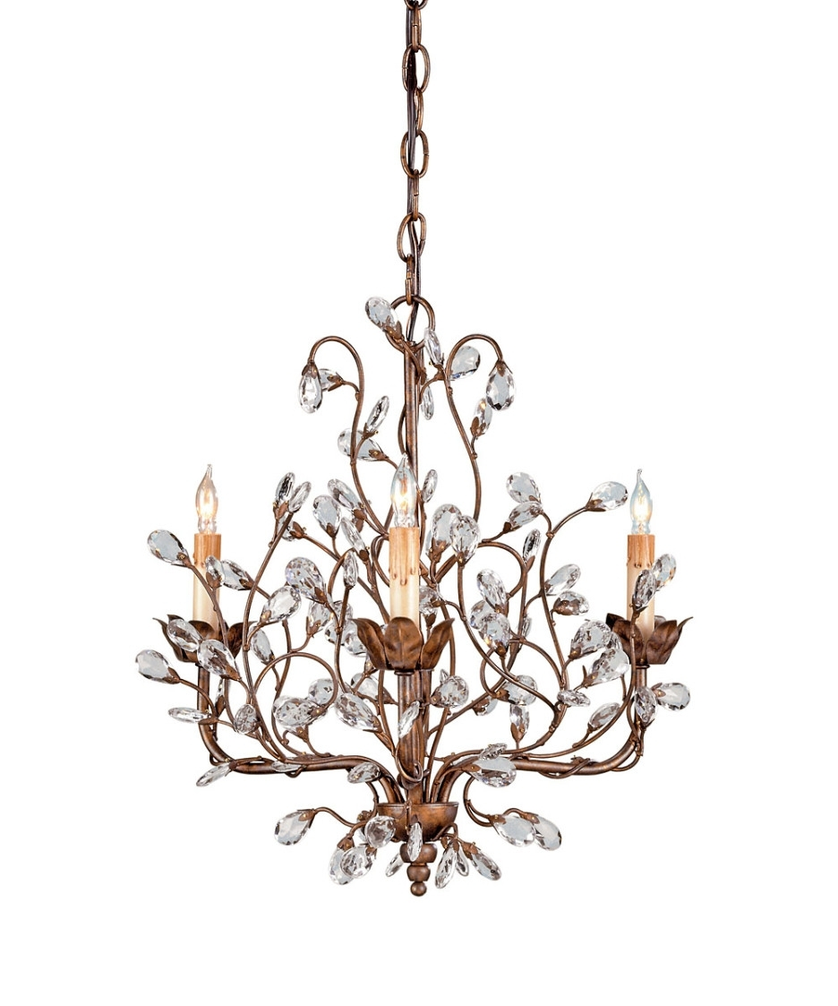 Decoration Ideas Gorgeous Small Bedroom Chandelier With Brown Iron Intended For Most Recently Released Small Glass Chandeliers (Gallery 12 of 20)