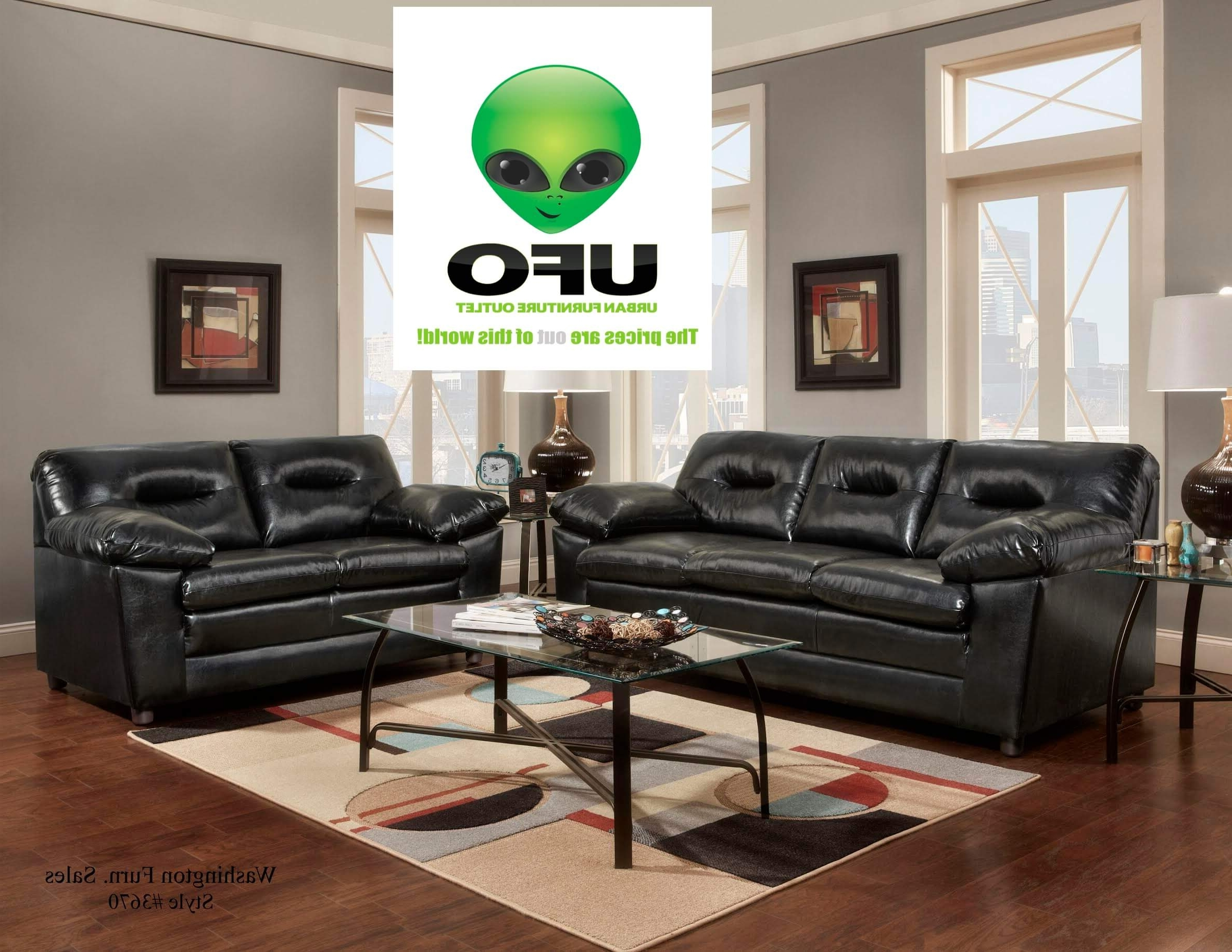 Denver Black Sofa And Loveseat With Free Coffee And End Tables In Popular Denver Sectional Sofas (Gallery 19 of 20)