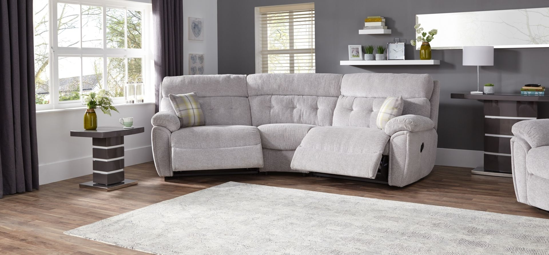 Destiny 4 Seater Curved Manual Recliner Sofa – Scs With Regard To Newest Curved Recliner Sofas (Gallery 14 of 20)