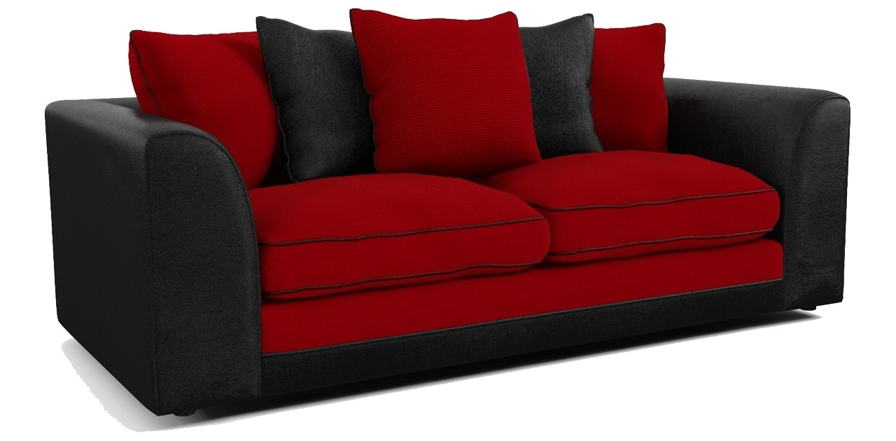 Dillon 3 Seater Sofa In Most Up To Date Red And Black Sofas (View 6 of 20)
