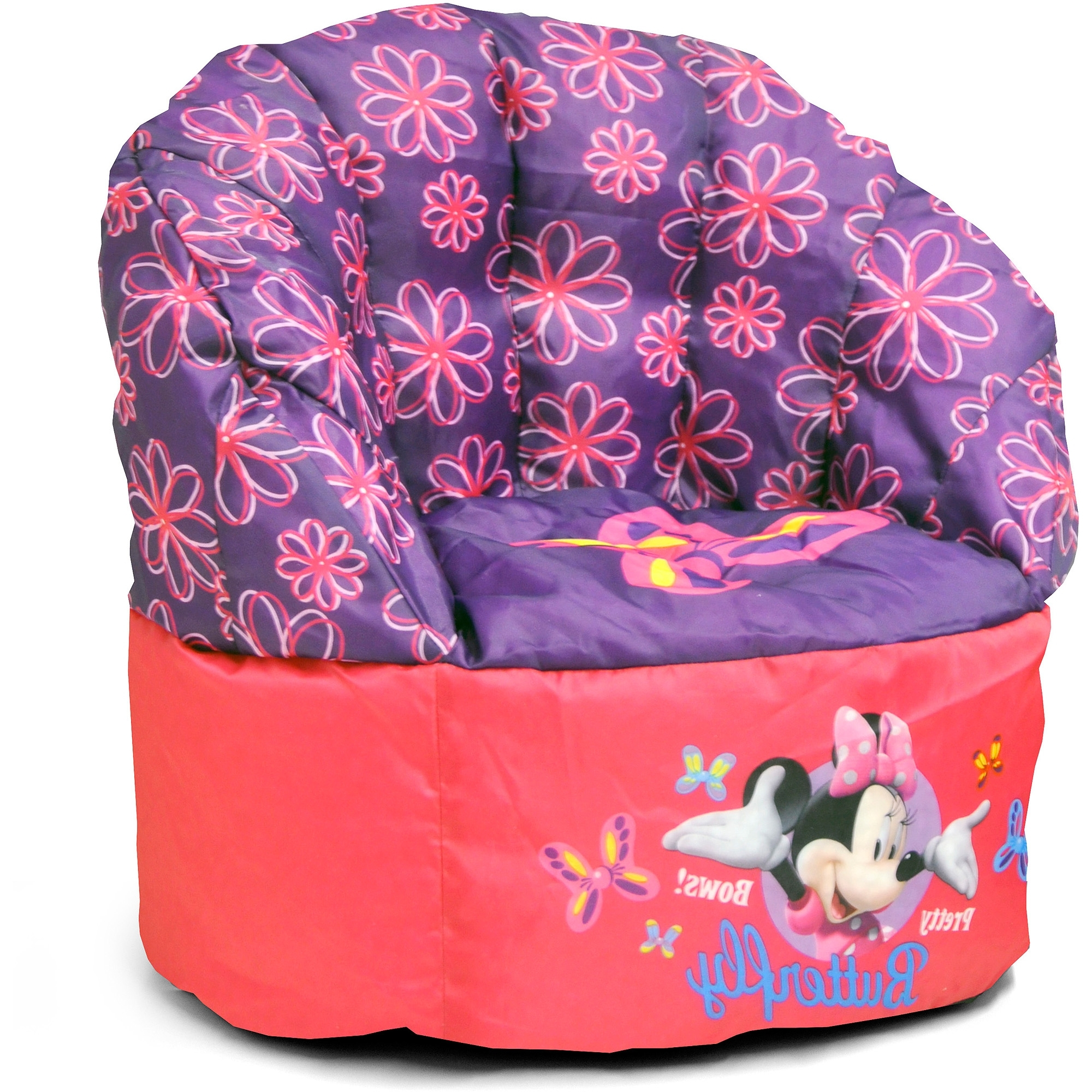 Disney Minnie Mouse Bean Bag Chair – Walmart Intended For Fashionable Disney Sofa Chairs (Gallery 18 of 20)