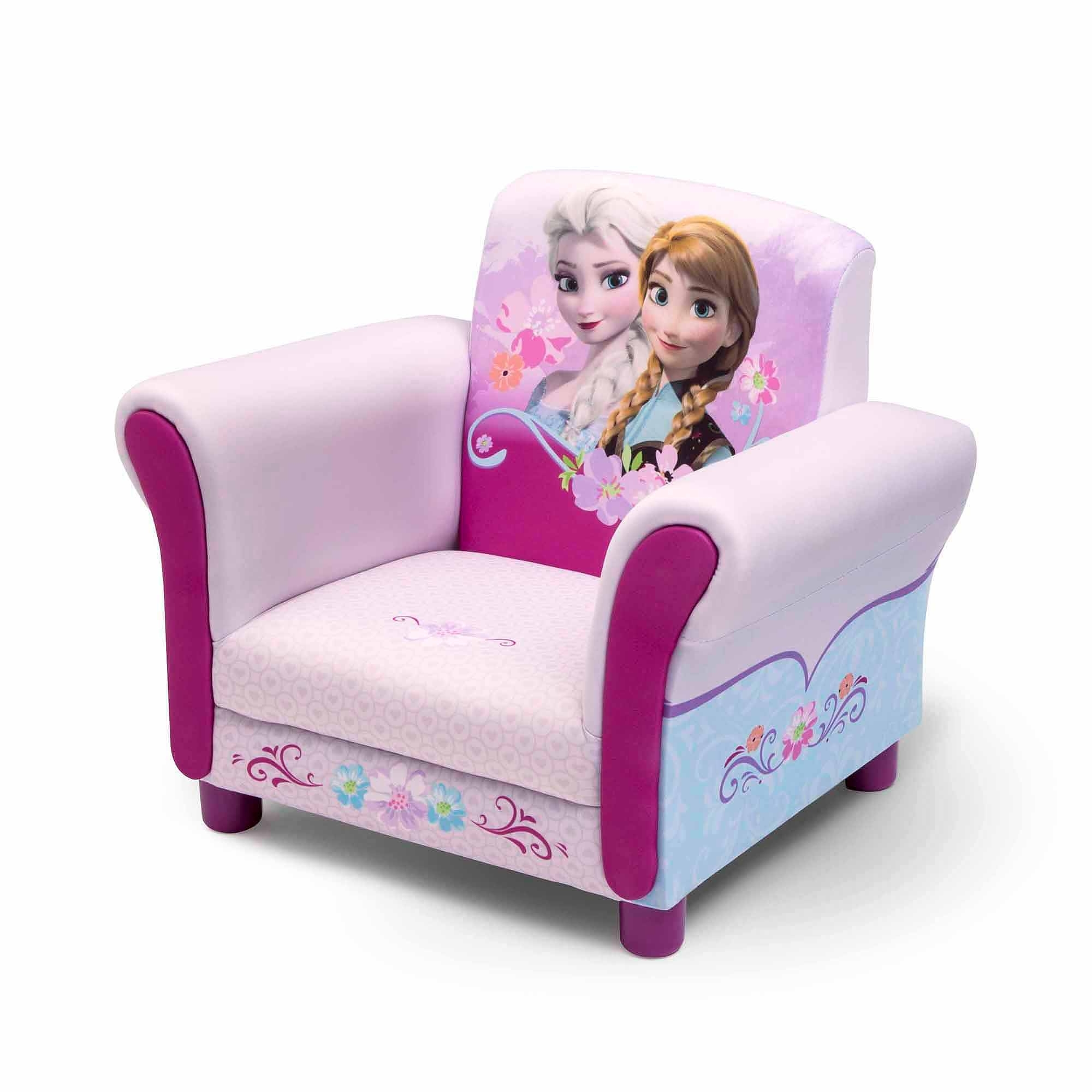 Disney Sofa Chairs Intended For Preferred Disney Frozen Upholstered Chair – Walmart (Gallery 1 of 20)