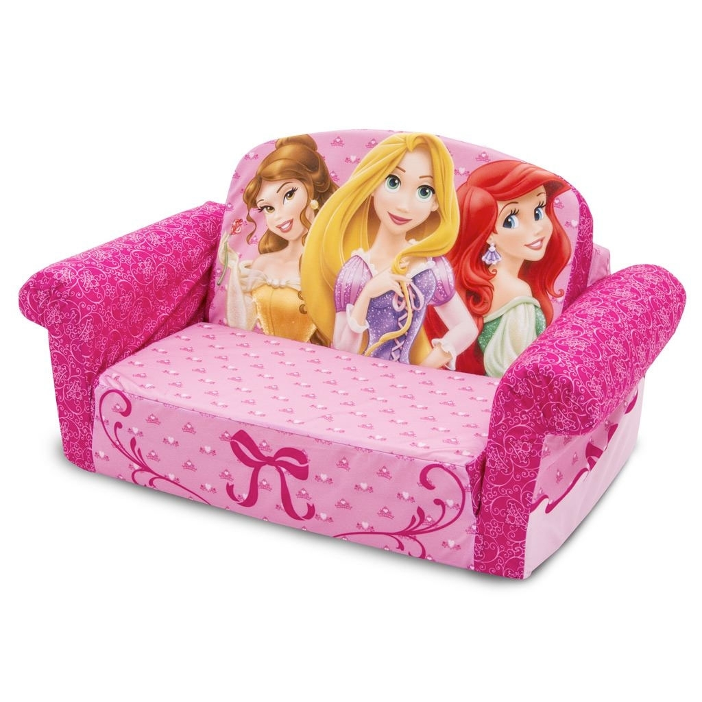 Disney Sofa Chairs With Regard To Favorite Spin Master – Marshmallow Furniture Flip Open Sofa Disney Princess (View 13 of 20)
