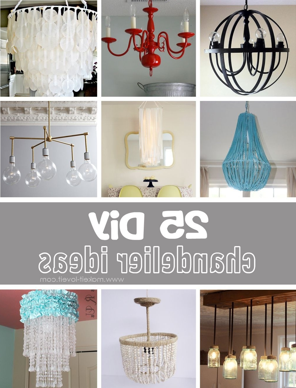 Diy Chandelier Intended For Trendy Turquoise Chandelier Lamp Shades (View 7 of 20)