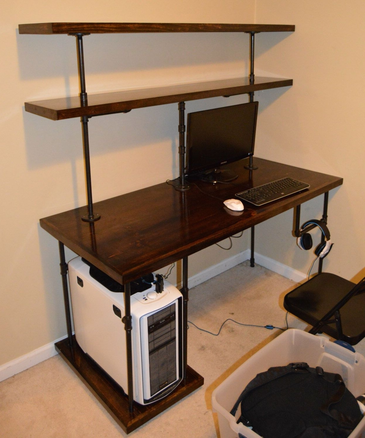 Diy Computer Desks Within Widely Used 23+ Diy Computer Desk Ideas That Make More Spirit Work (Gallery 8 of 20)