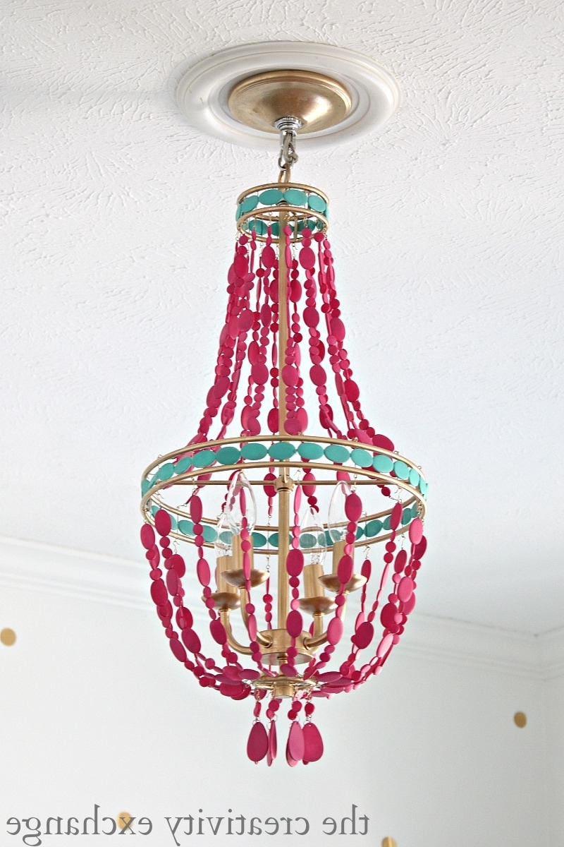 Diy Painted Empire Chandelier For Most Recently Released Turquoise Empire Chandeliers (Gallery 9 of 20)
