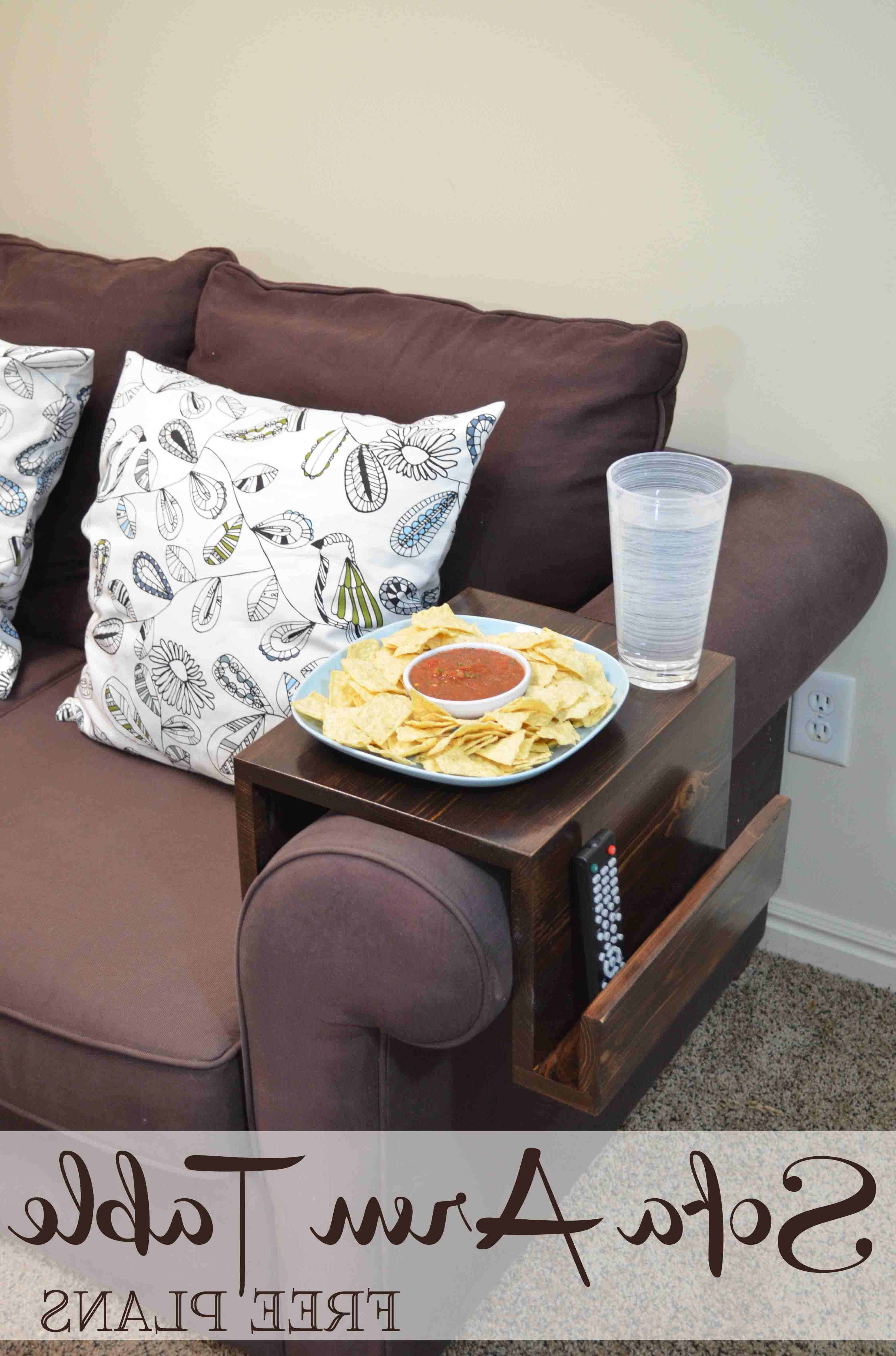 Diy Sofa Arm Table Within Sofas With Drink Tables (View 11 of 20)