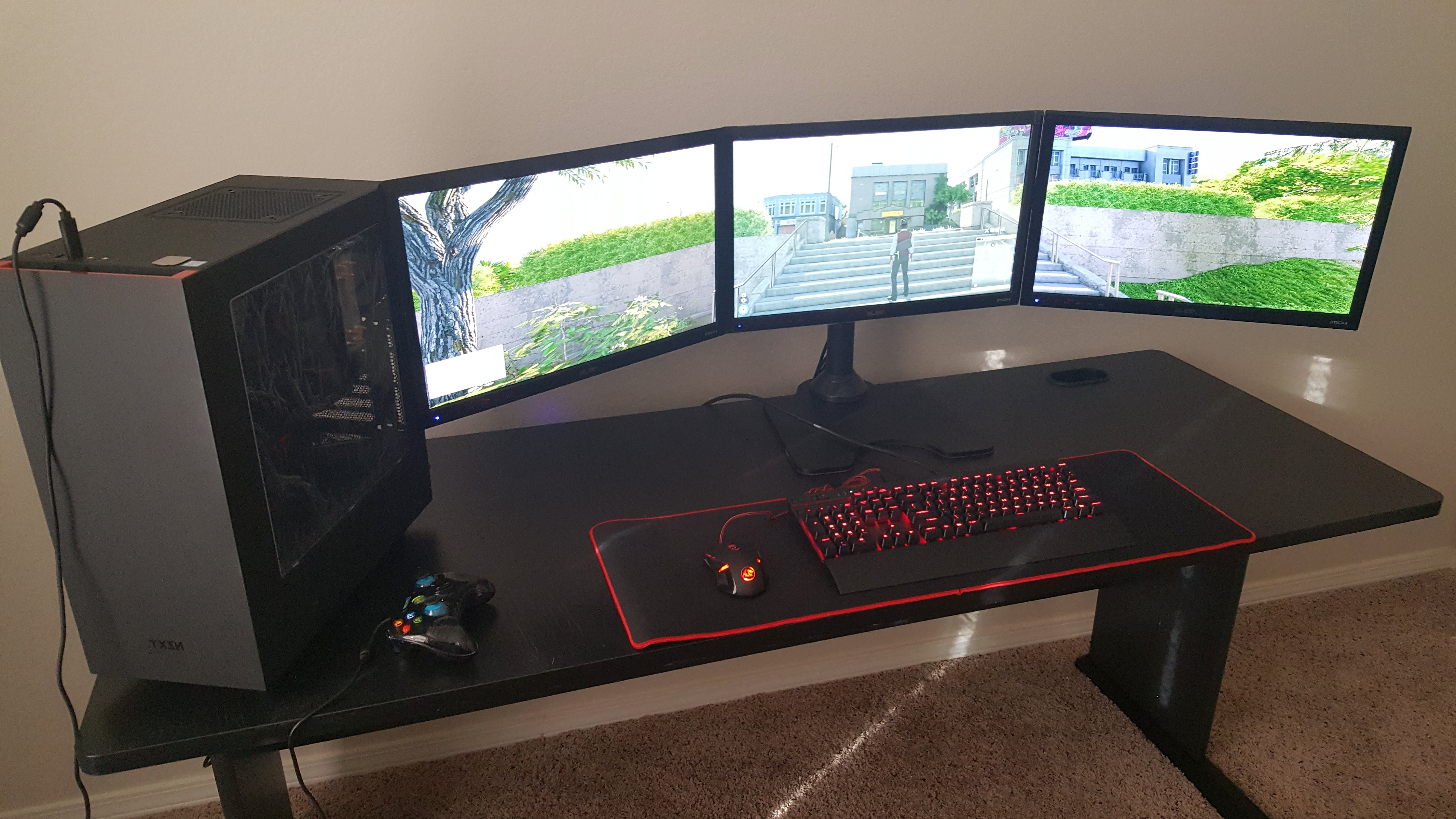 Featured Photo of Computer Desks For 3 Monitors