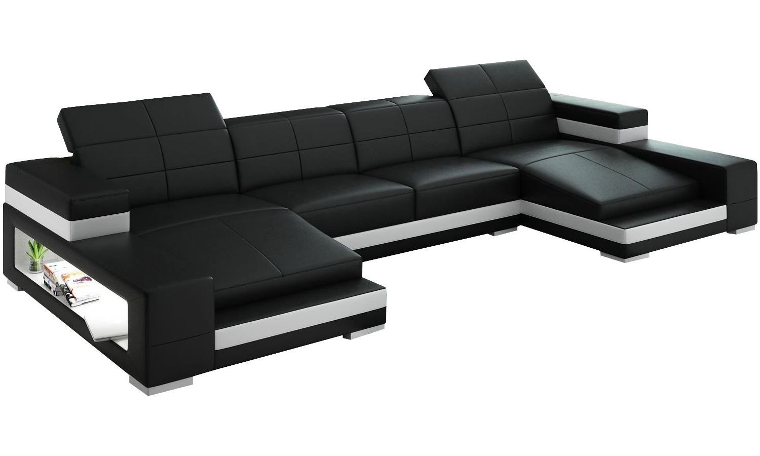 Double Chaise Sectional Sofa – Cleanupflorida With Regard To Newest Customizable Sectional Sofas (View 7 of 20)