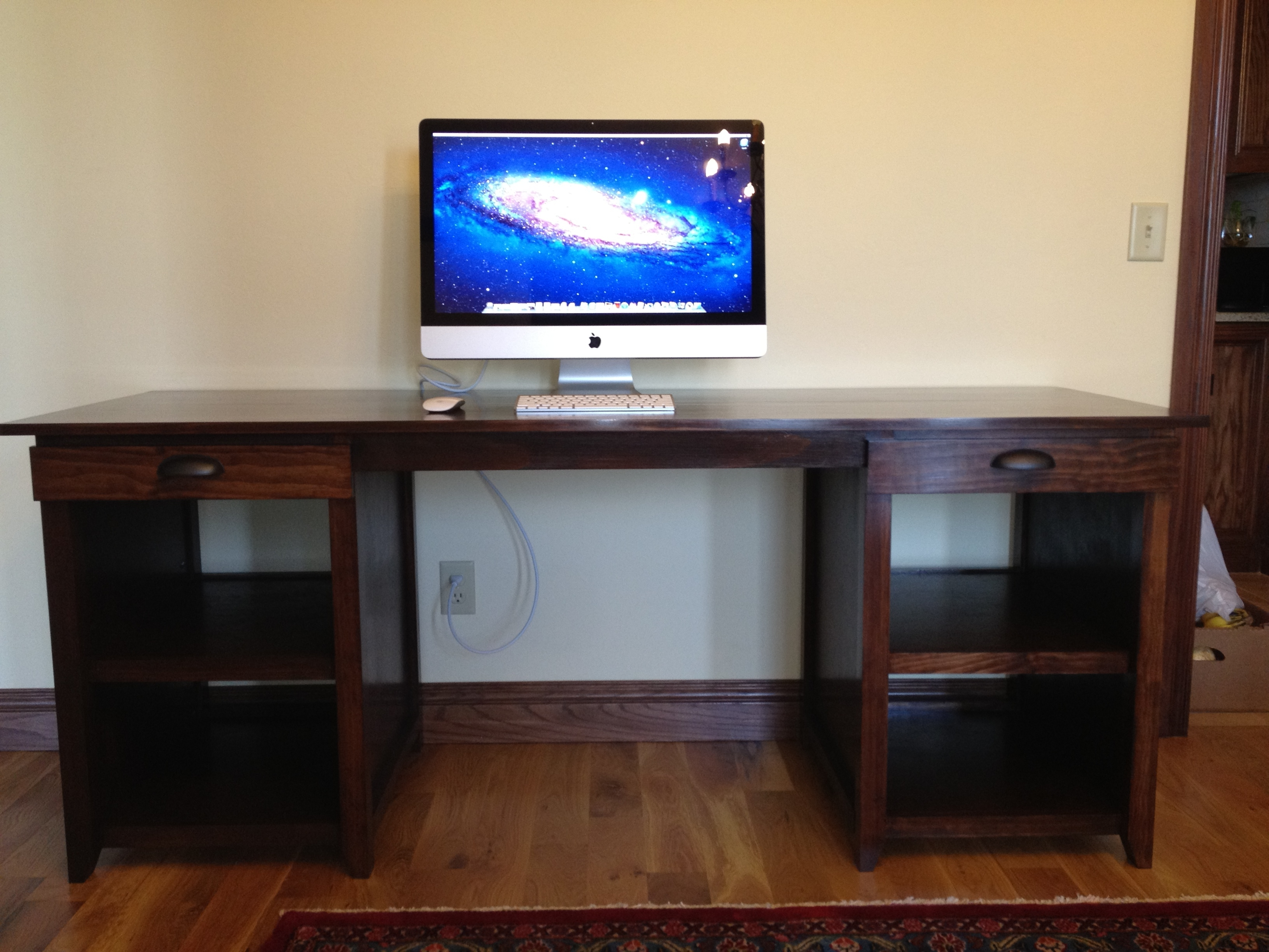 Double Drawer Channing Computer Desk – Diy Projects (View 16 of 20)