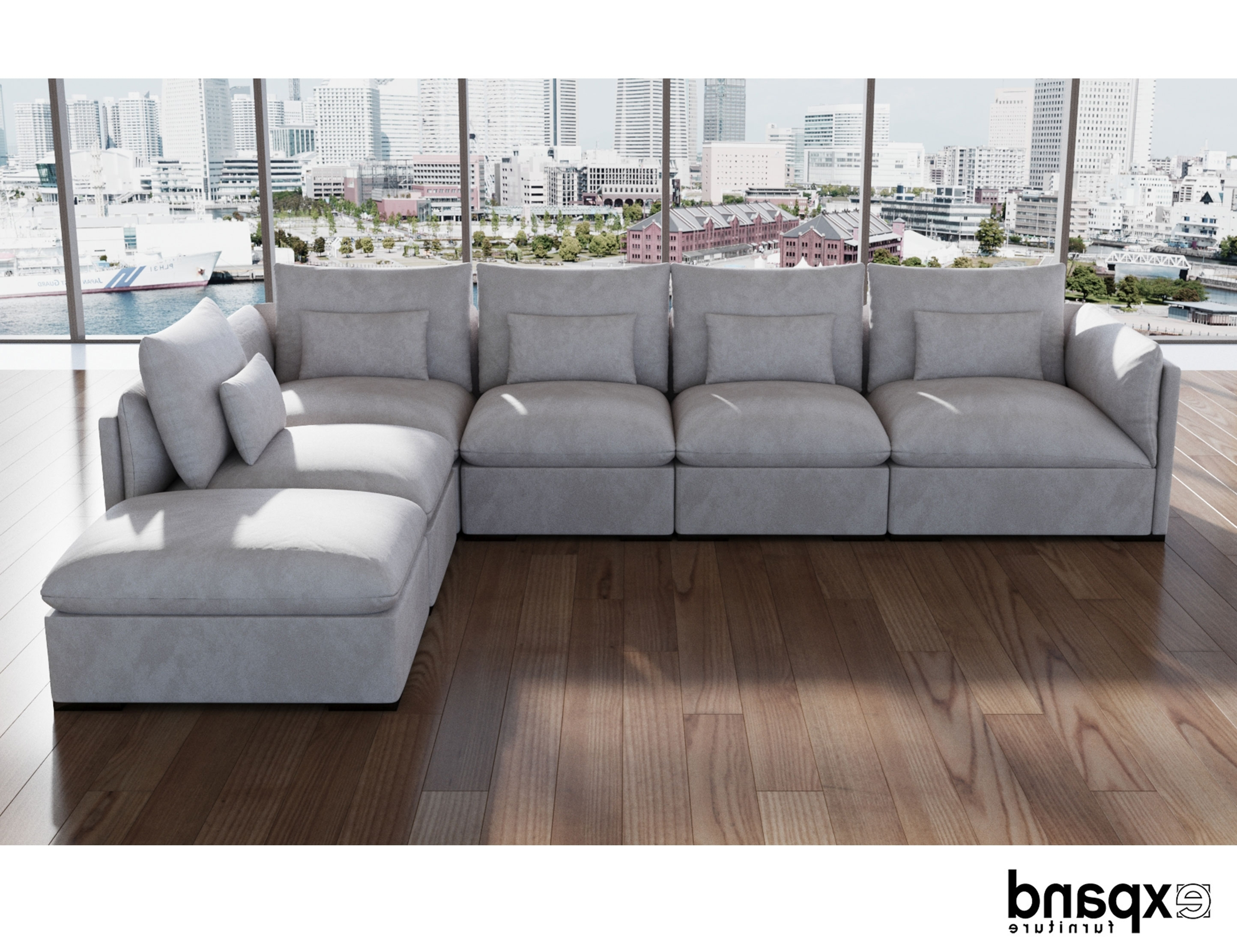 Down Feather Sectional Sofas Intended For Favorite Adagio: Luxury Sectional Modular Sofa Set Of 4 (Gallery 6 of 20)