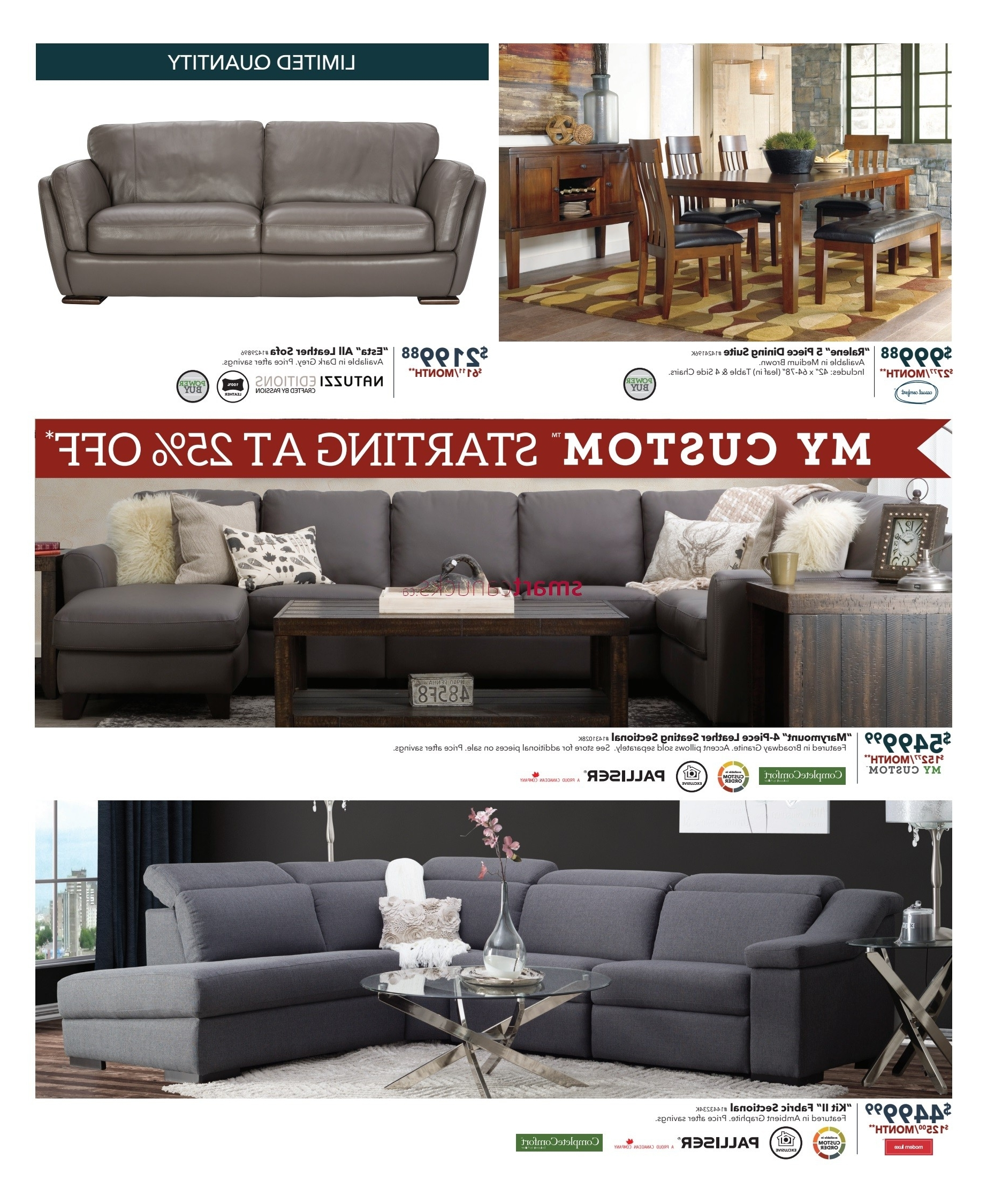 Dufresne Sectional Sofas Within Newest Dufresne (Winnipeg & Ottawa) Flyer December 1 To  (View 9 of 20)