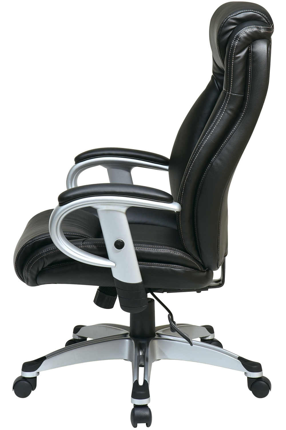 Ech52666 Ec3 Office Star – Executive Black Eco Leather Chair With Pertaining To Favorite Executive Office Chairs With Adjustable Arms (View 6 of 20)