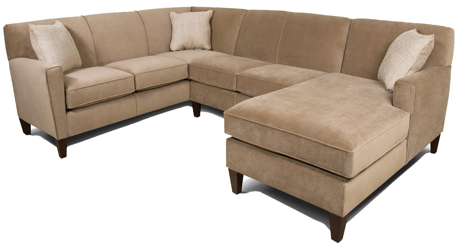 England Collegedale Contemporary 3 Piece Sectional Sofa With Laf Regarding Latest Green Bay Wi Sectional Sofas (View 6 of 20)