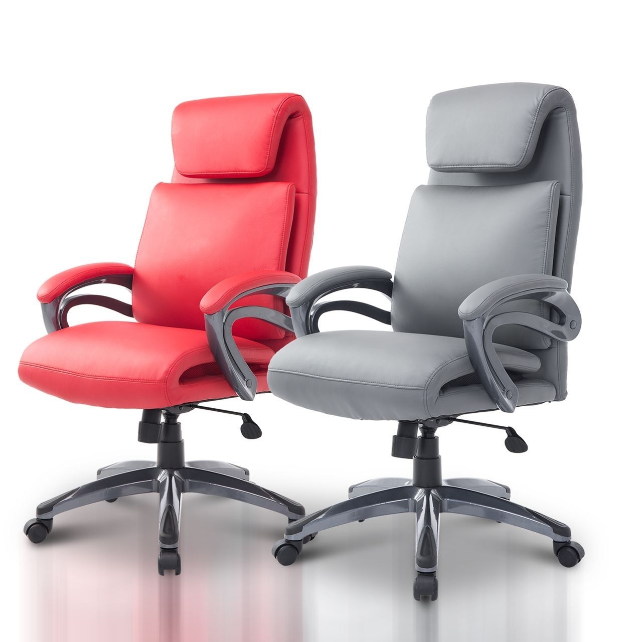 Ergonomic Executive Office Chair Pu Leather (View 9 of 20)