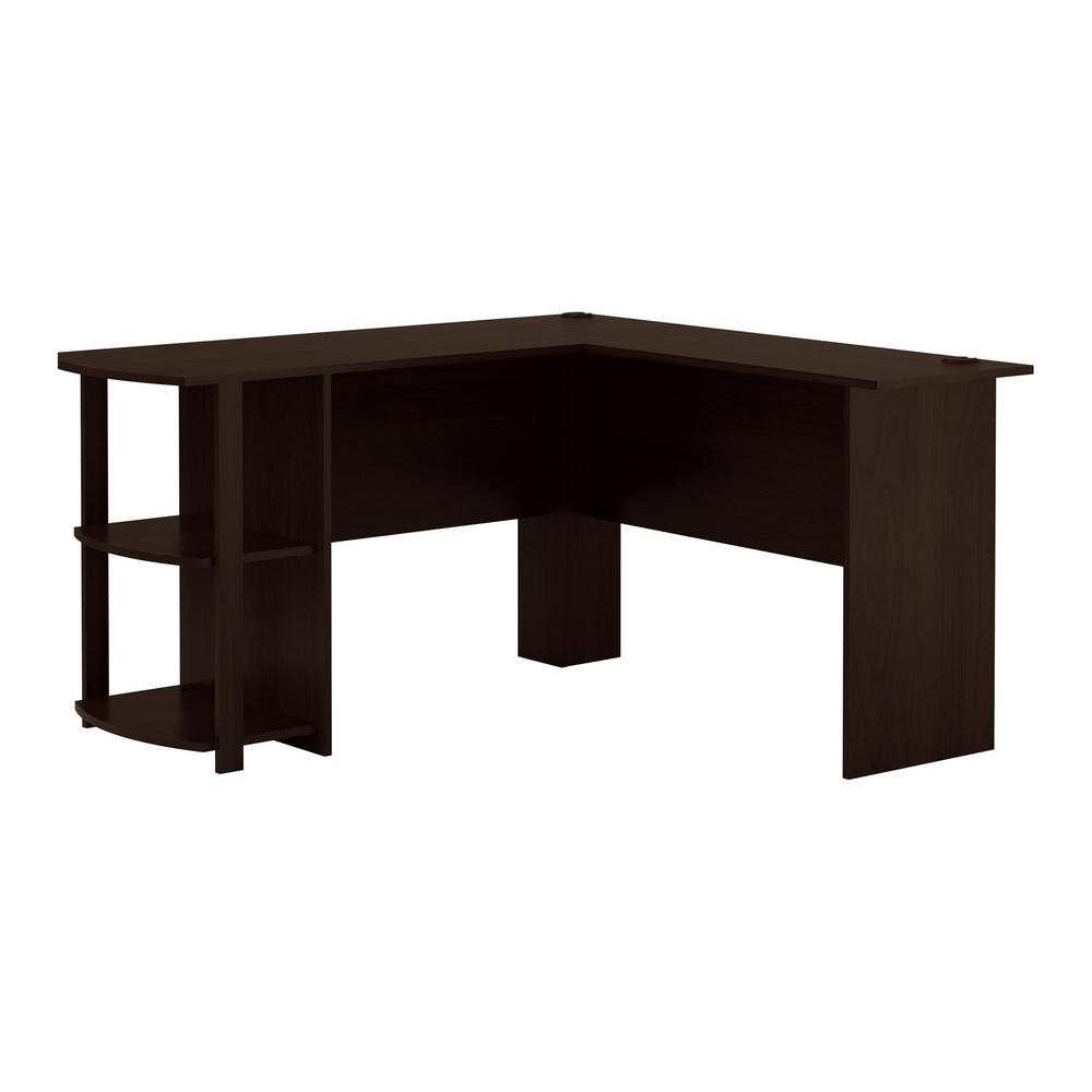 Espresso Computer Desks Regarding Most Up To Date Ameriwood Home Quincy Black Oak L Shaped Computer Desk Hd (View 6 of 20)