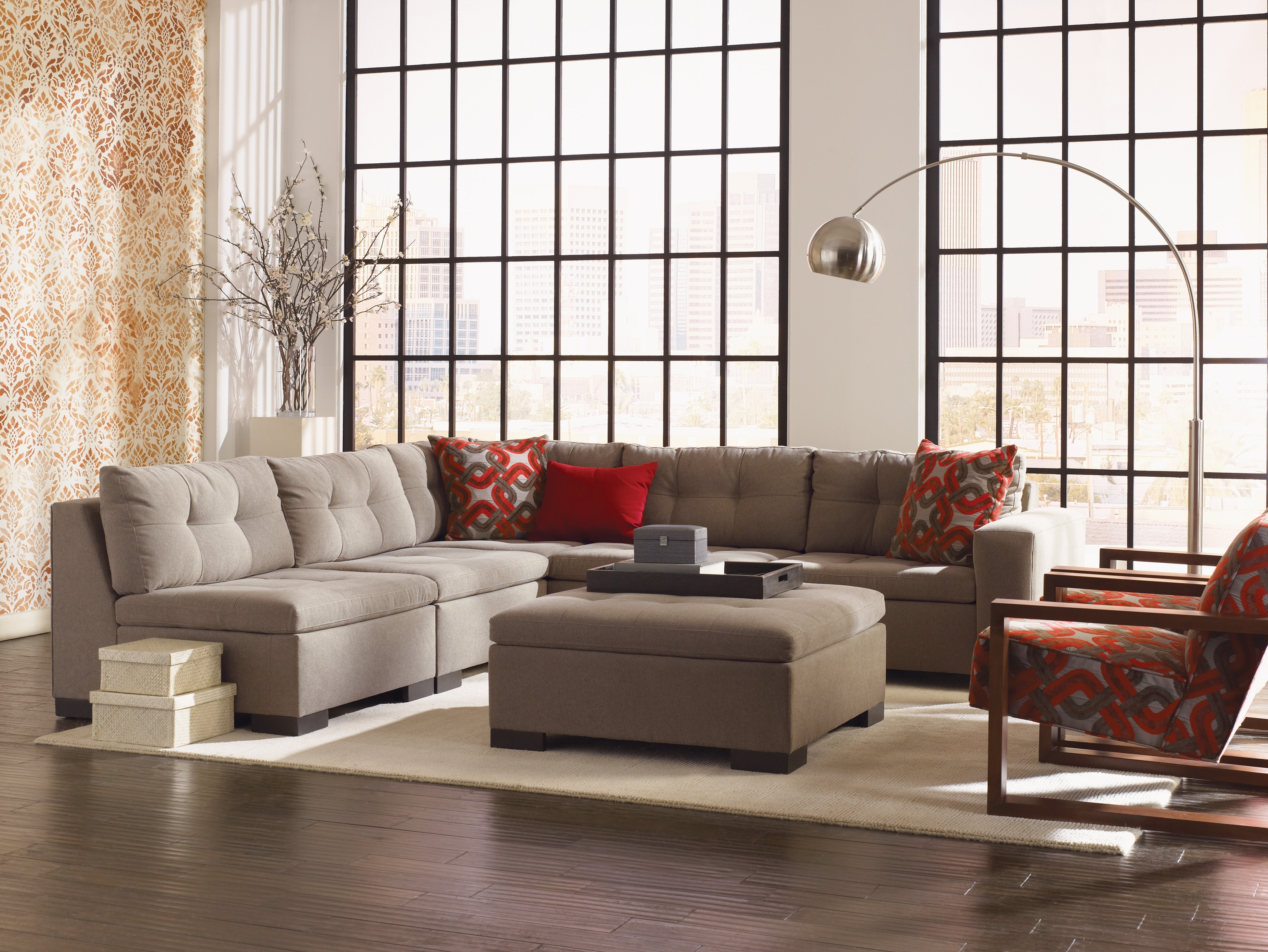 Esteban' Sectional In Multiple Configurations (View 14 of 20)