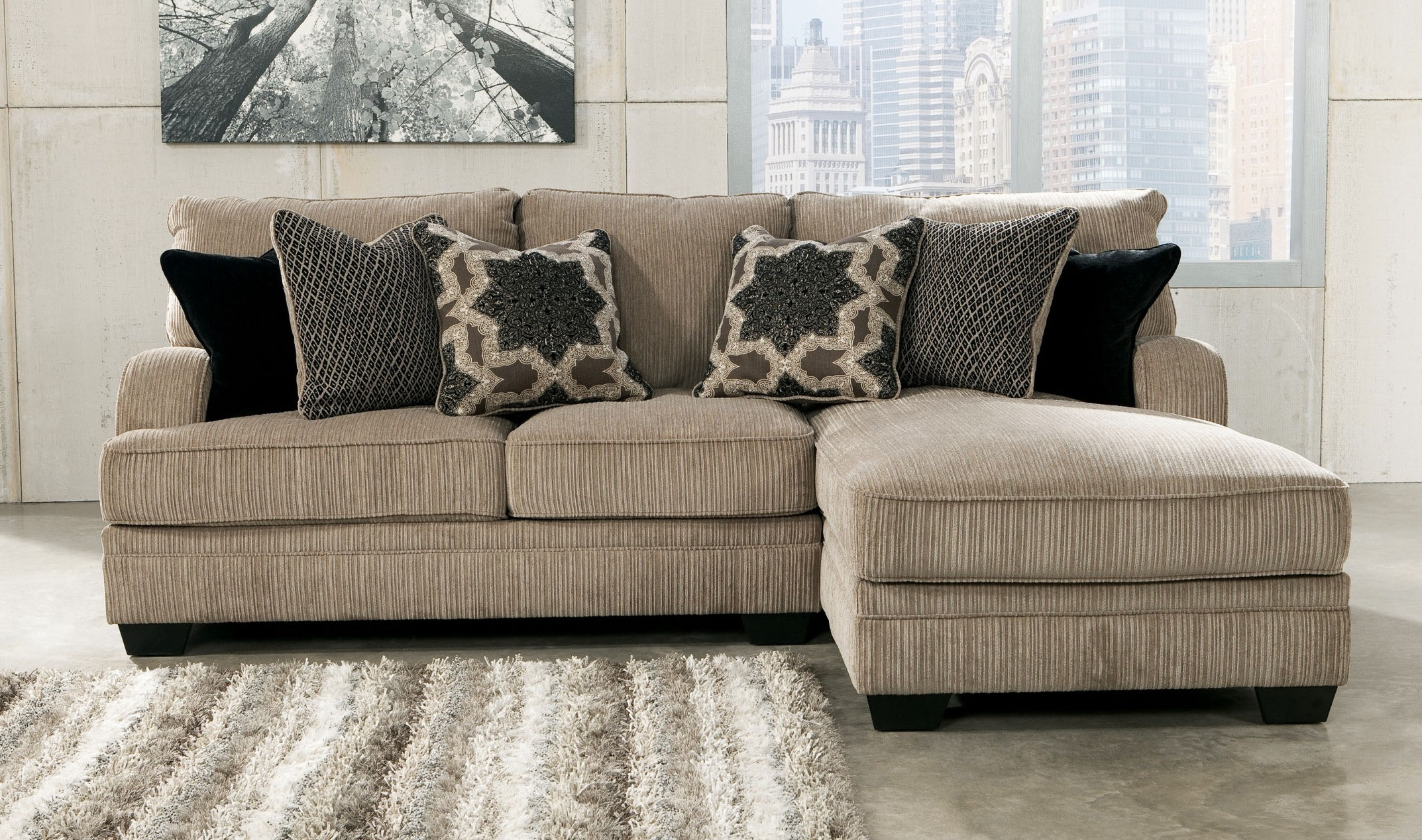 Ethan Mordden Modern Sofa Set Designs For Living Room Charcoal Intended For Well Liked Modern Sectional Sofas For Small Spaces (View 4 of 20)