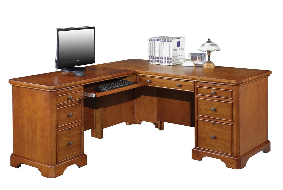 Executive Computer Desks With Famous Alcott Hill Chester L Shape Executive Desk & Reviews (View 3 of 20)