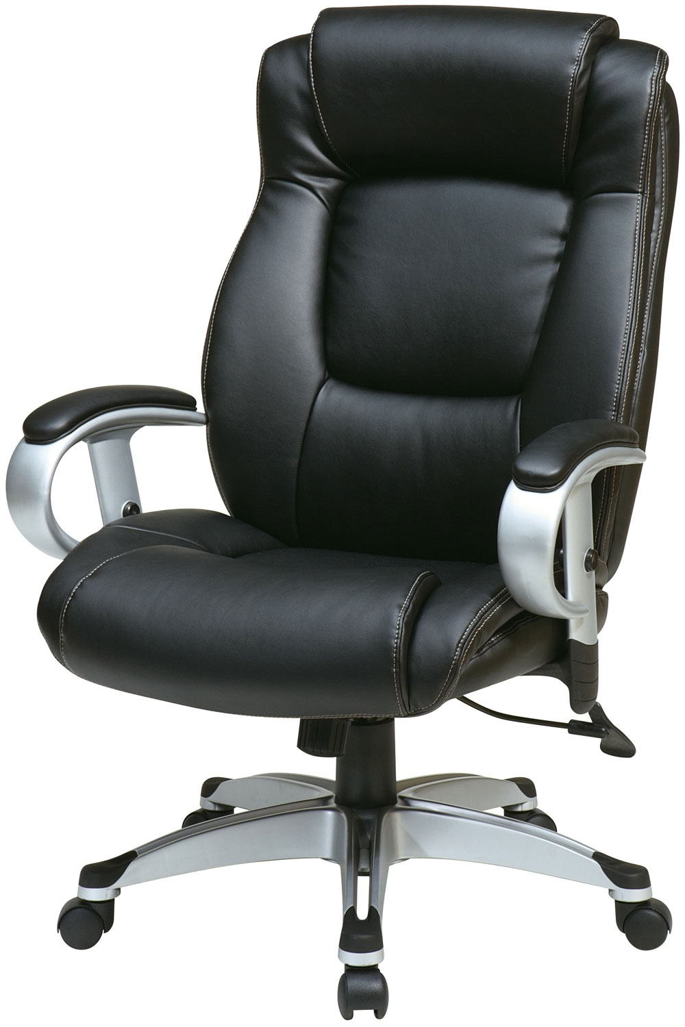 Executive Desk Chair Without Arms For Most Recent Ech52666 Ec3 Office Star – Executive Black Eco Leather Chair With (View 6 of 20)