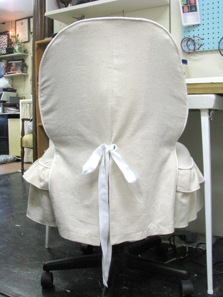 Executive Office Chair Slipcovers Inside Preferred Furniture Office: Removable Chair Cover High Elastic Office Chair (View 8 of 20)