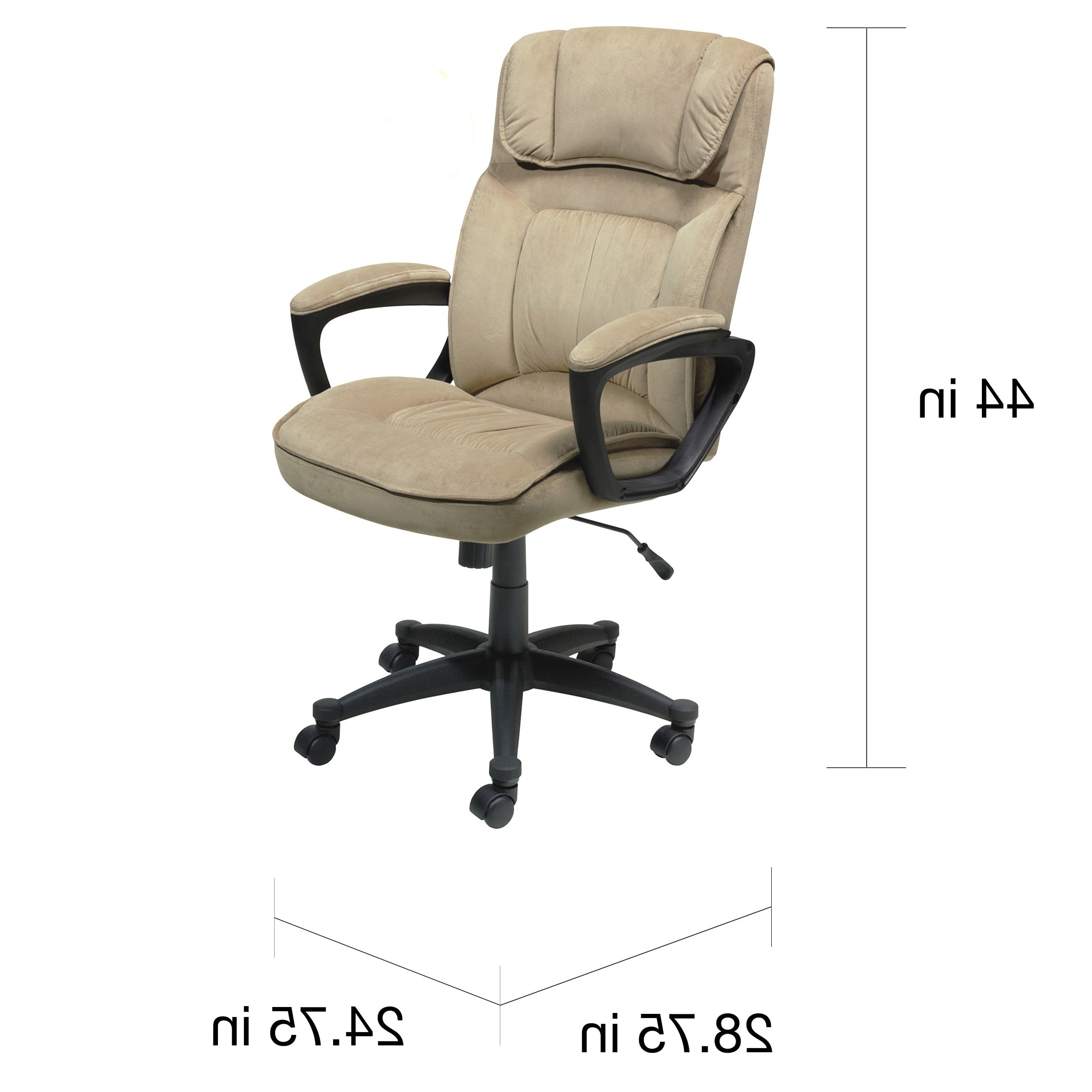 Executive Office Chairs For Latest Serta Light Coffee Microfiber Executive Office Chair – Free (View 13 of 20)