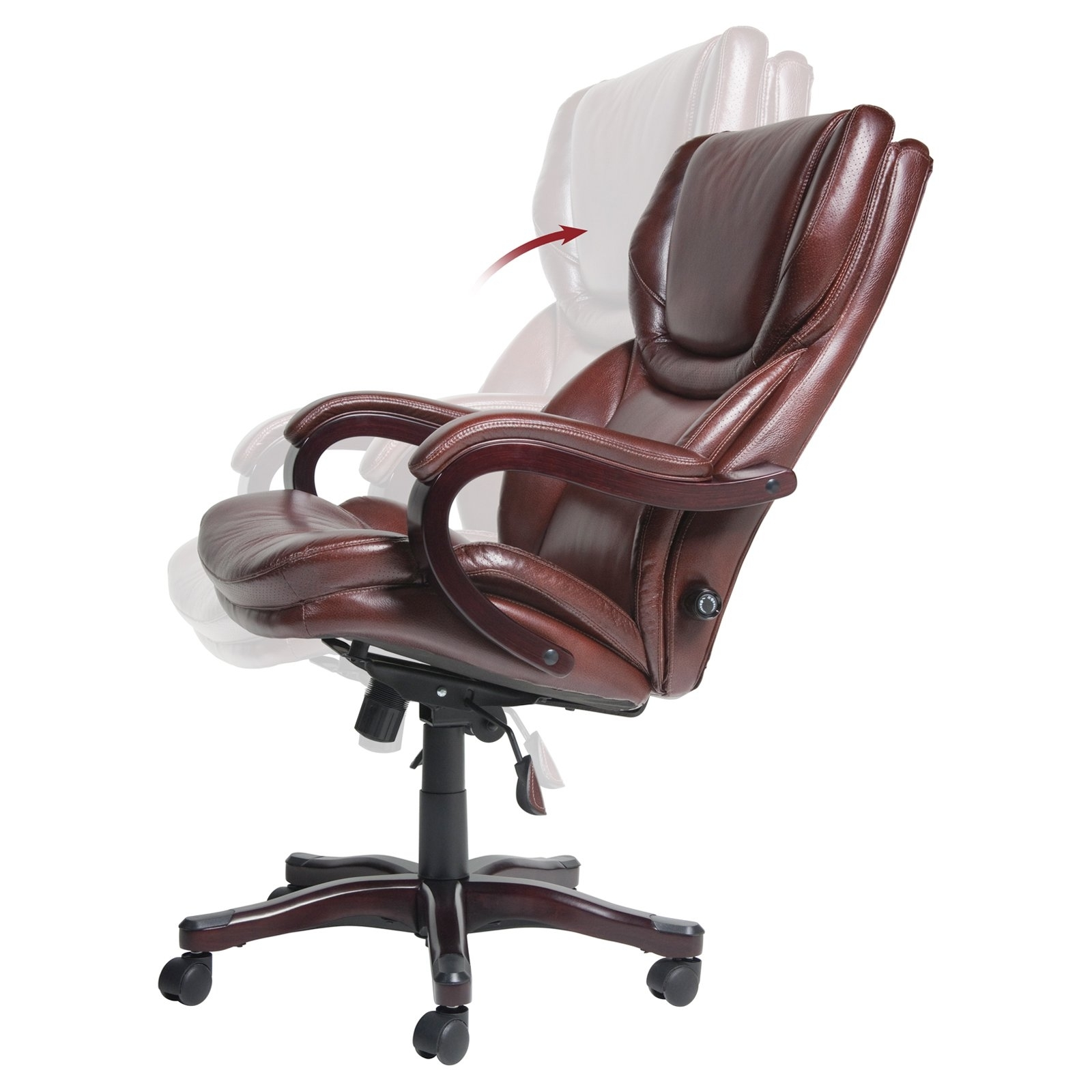 Executive Office Chairs Inside Latest Serta Eco Friendly Bonded Leather Executive Big & Tall Office (View 7 of 20)