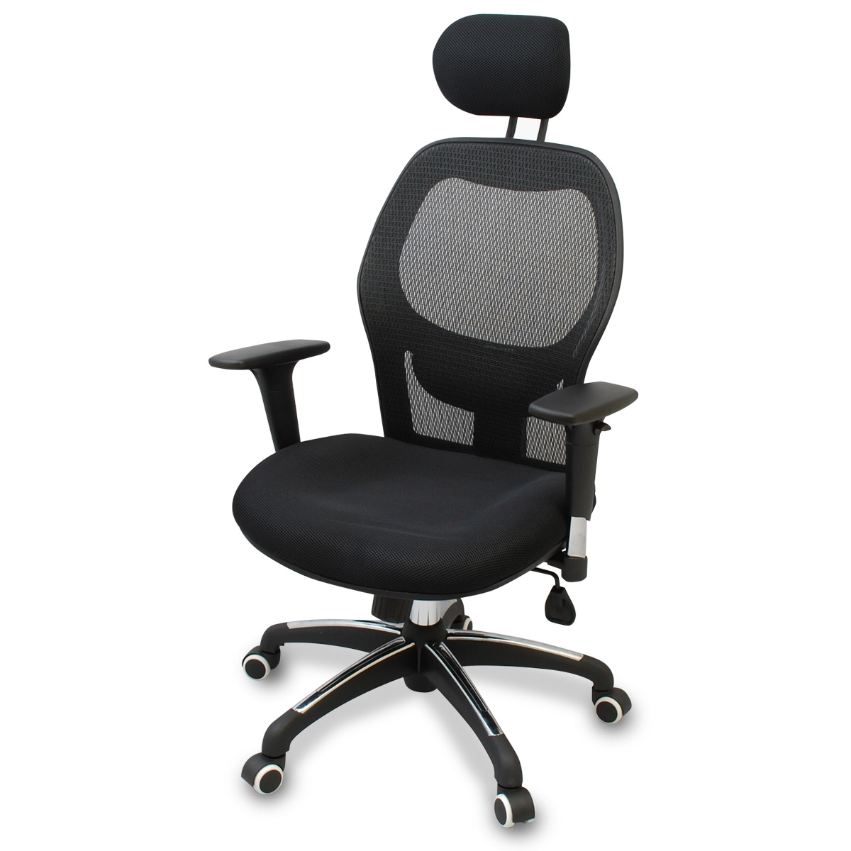 Executive Office Chairs With Adjustable Lumbar Support For Best And Newest New Mesh Ergonomic Office Chair W/ Adjustable Headrest, Arms And (View 1 of 20)