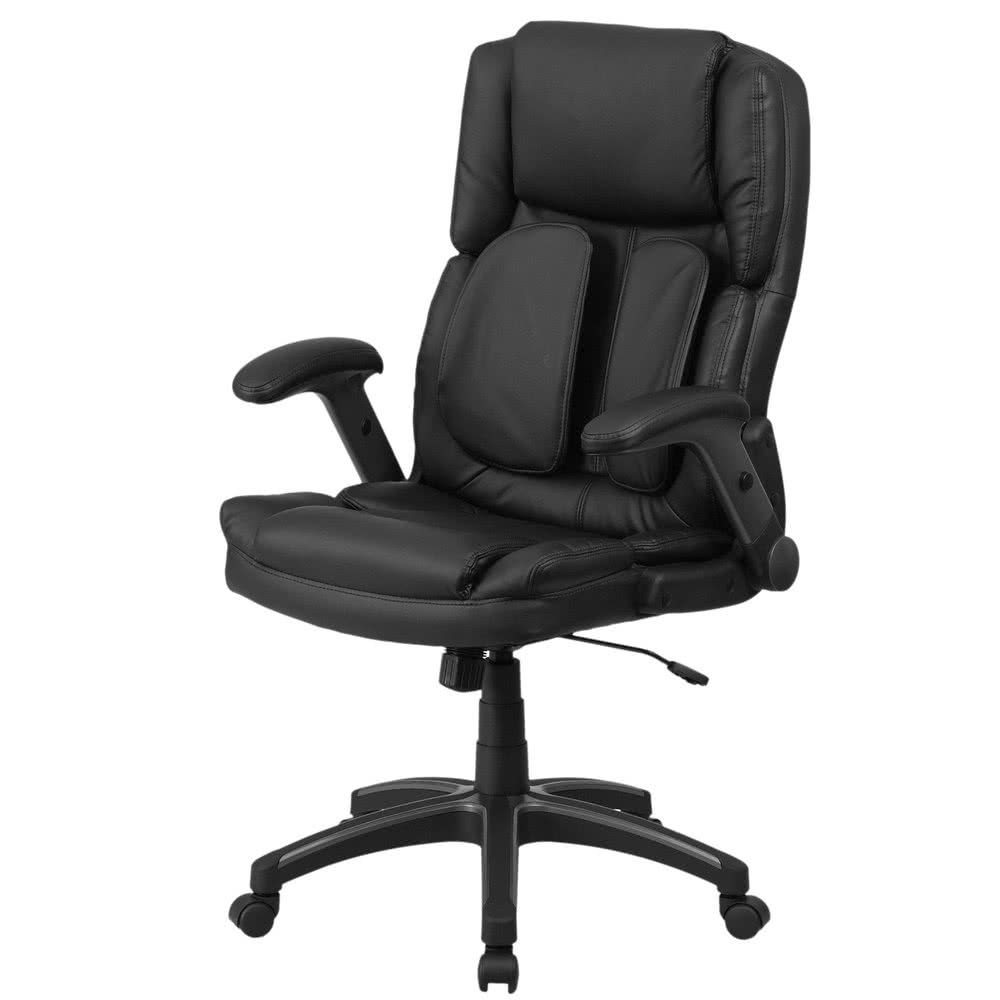 Executive Office Chairs With Back Support Inside Widely Used Flash Furniture Bt 90275H Gg High Back Black Leather Executive (View 12 of 20)