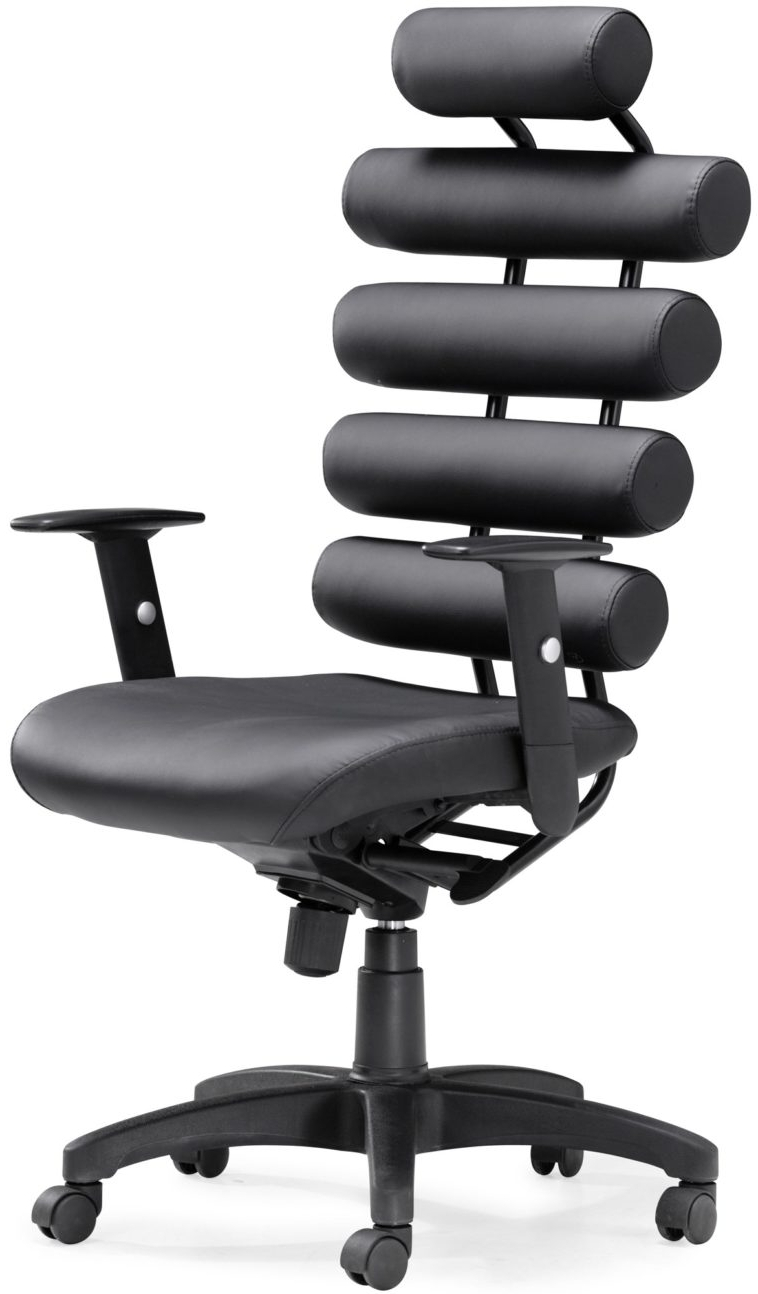 Executive Office Chairs With Back Support With Fashionable Furniture. Ergonomic Black Vinyl Executive Desk Chair With Lumbar (Gallery 13 of 20)