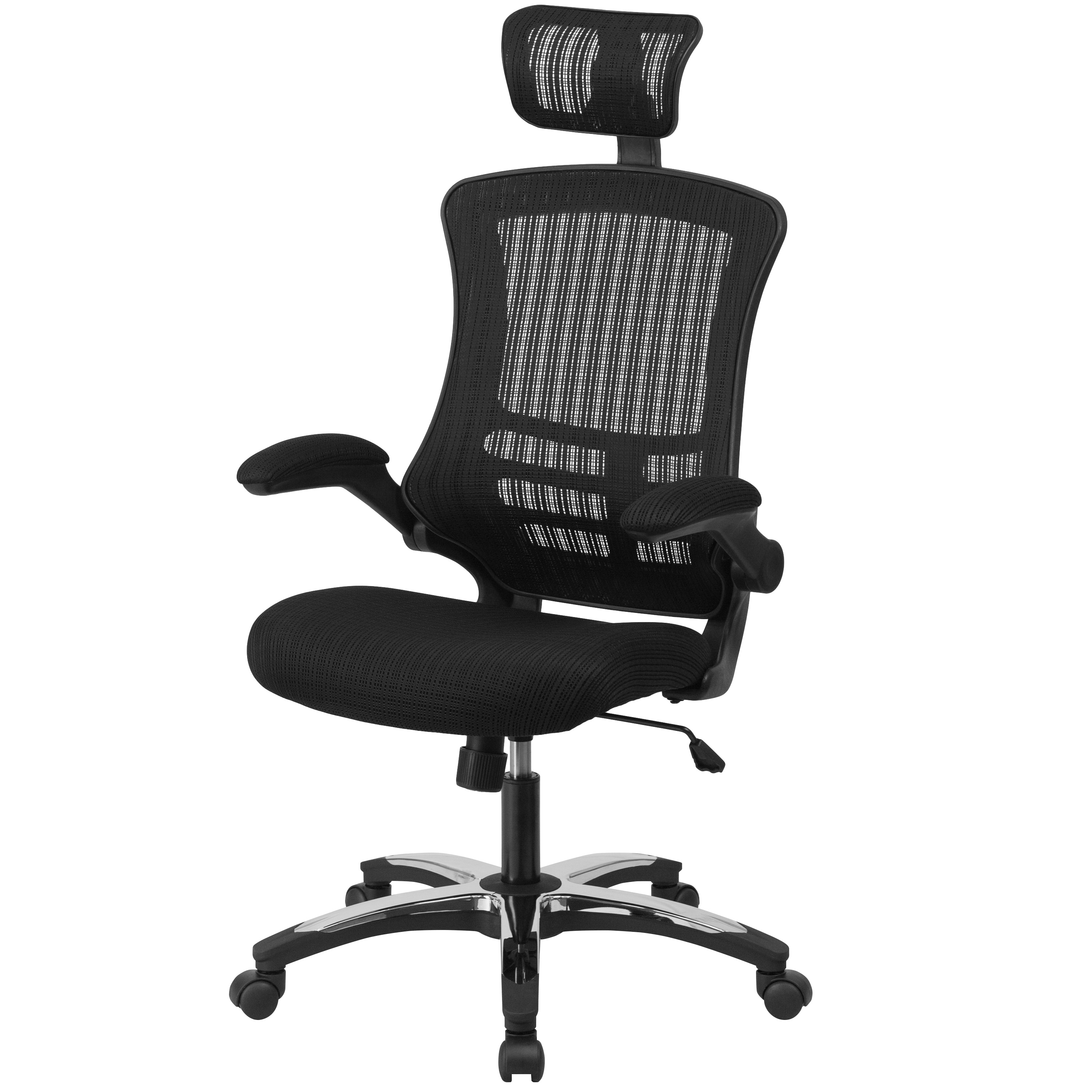 Executive Office Chairs With Flip Up Arms Throughout Popular High Back Mesh Executive Swivel Office Chair With Flip Up Arms And (View 11 of 20)