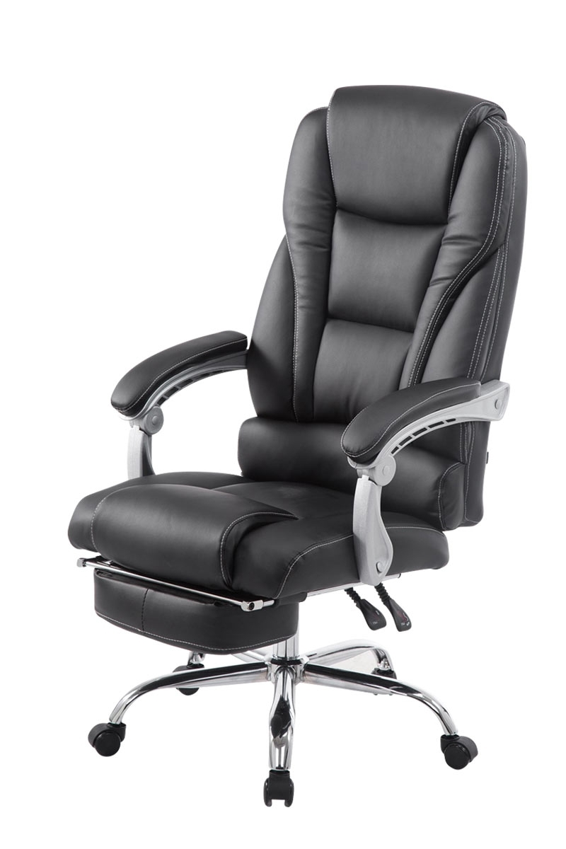 Executive Office Chairs With Footrest Intended For Popular Office Chair Pacific Executive Manager Gaming Chair Faux Leather (View 16 of 20)