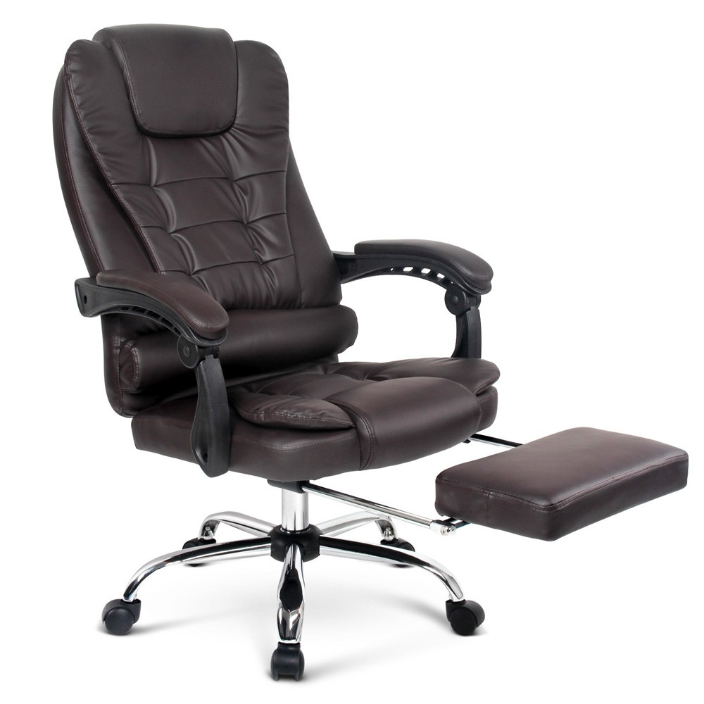 Executive Office Chairs With Footrest Pertaining To Famous Executive Office Chair For Games Racing Computer Pu Leather (View 6 of 20)