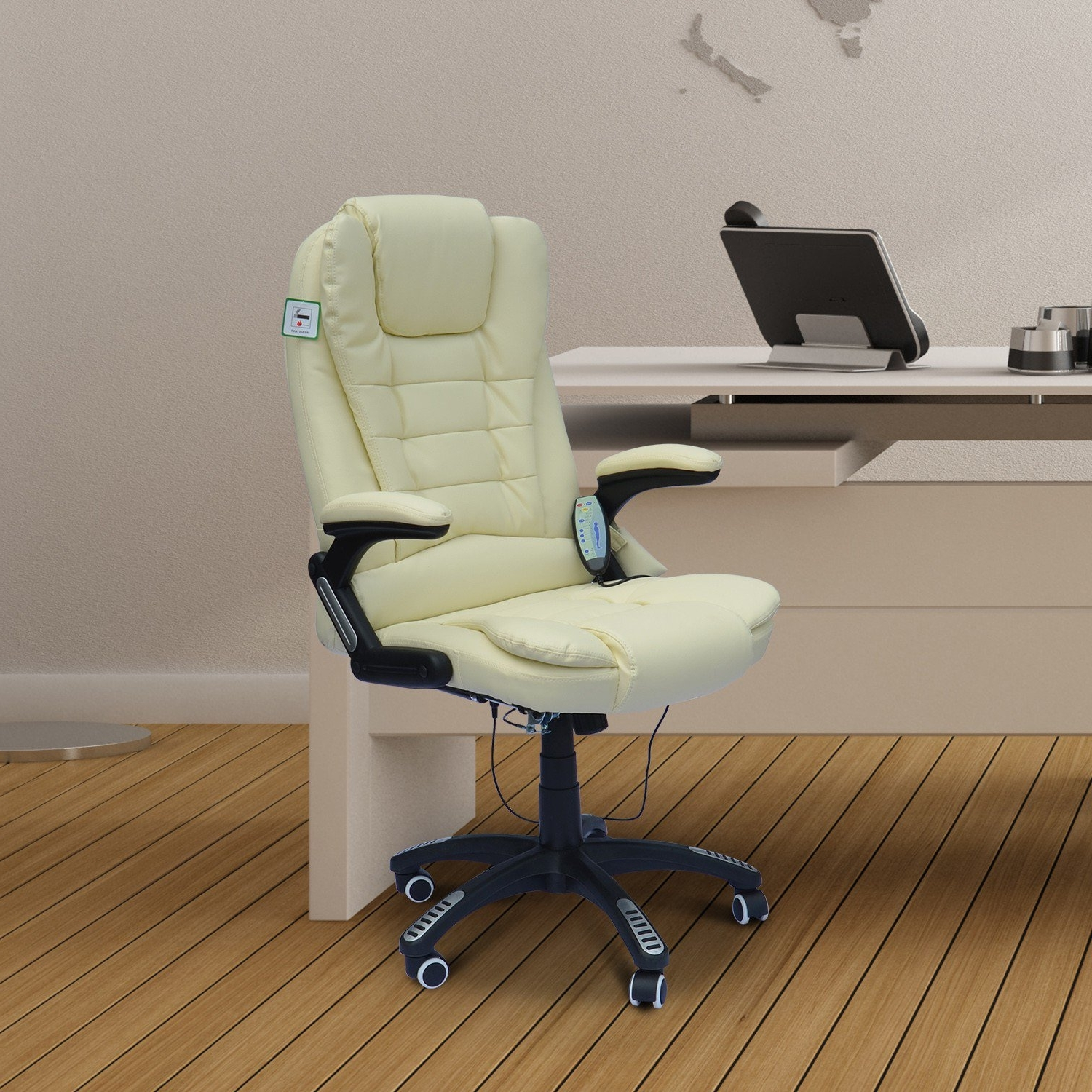 Executive Office Chairs With Massage/heat Pertaining To Widely Used Homcom Massage Chair Office Computer Executive Ergonomic Heated (View 19 of 20)