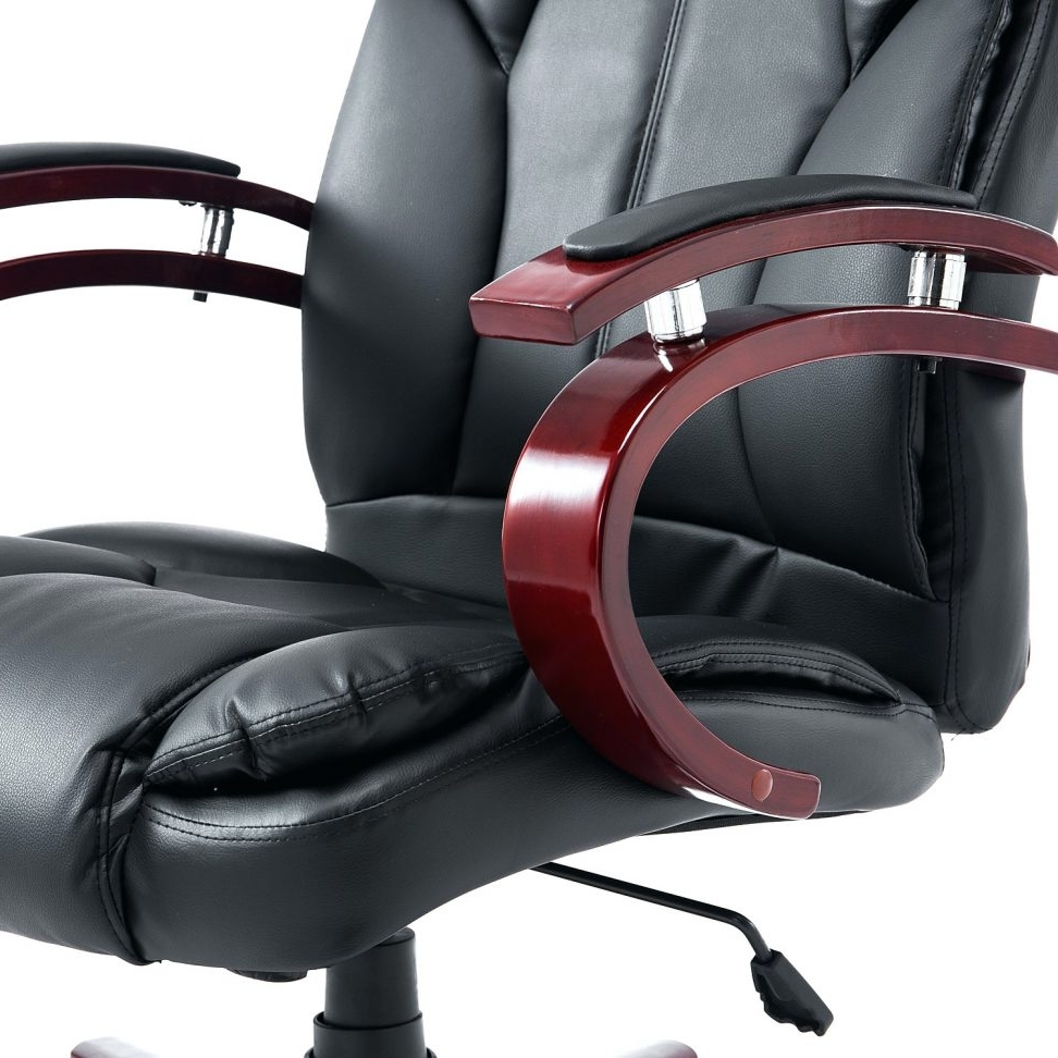Executive Office Chairs With Shiatsu Massager In Well Known Office Chair With Massage And Heat Big Boss C988 Adjustable Seat (Gallery 9 of 20)