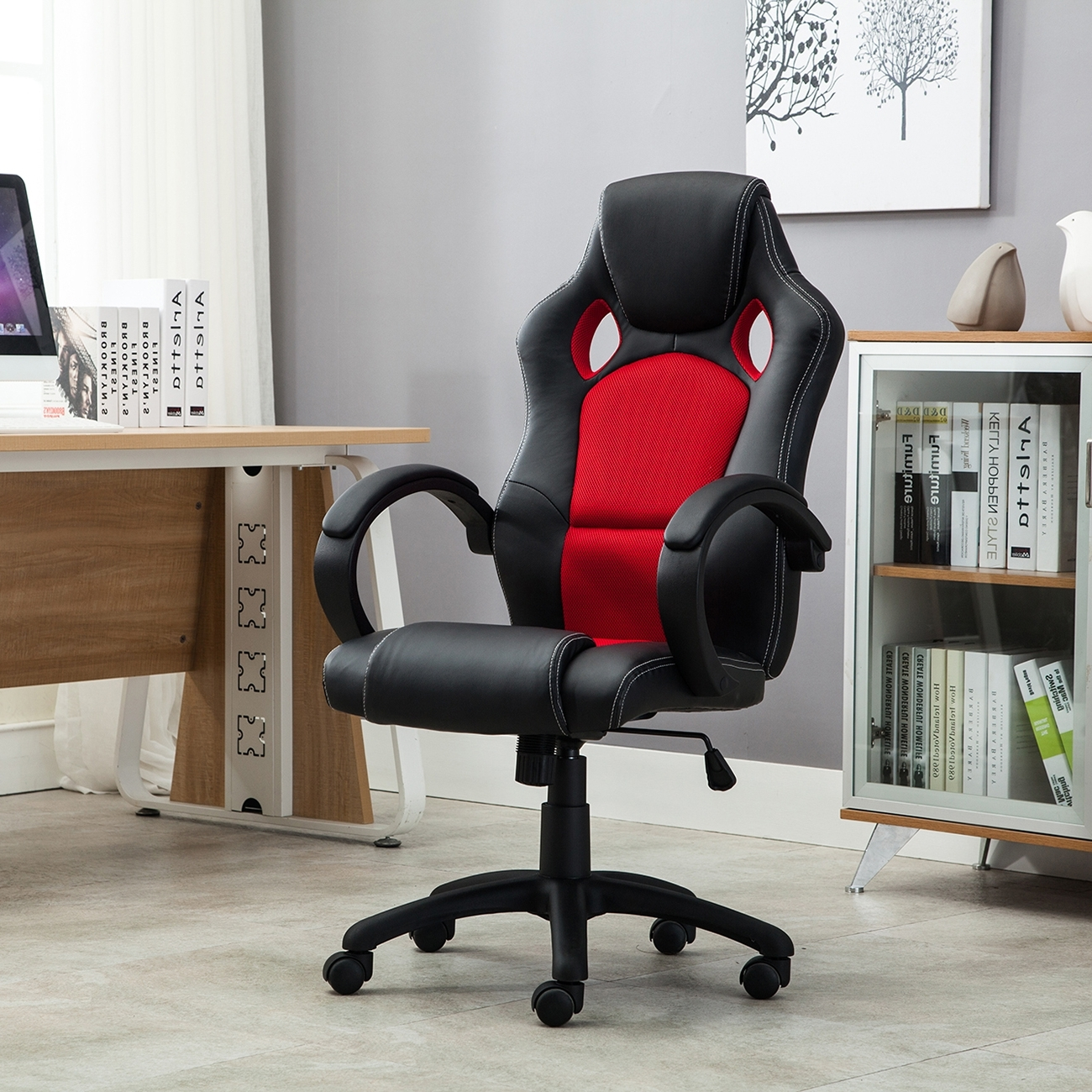 Executive Office Racing Chairs Regarding Well Liked High Back Race Car Style Bucket Seat Office Desk Chair Gaming (View 9 of 20)