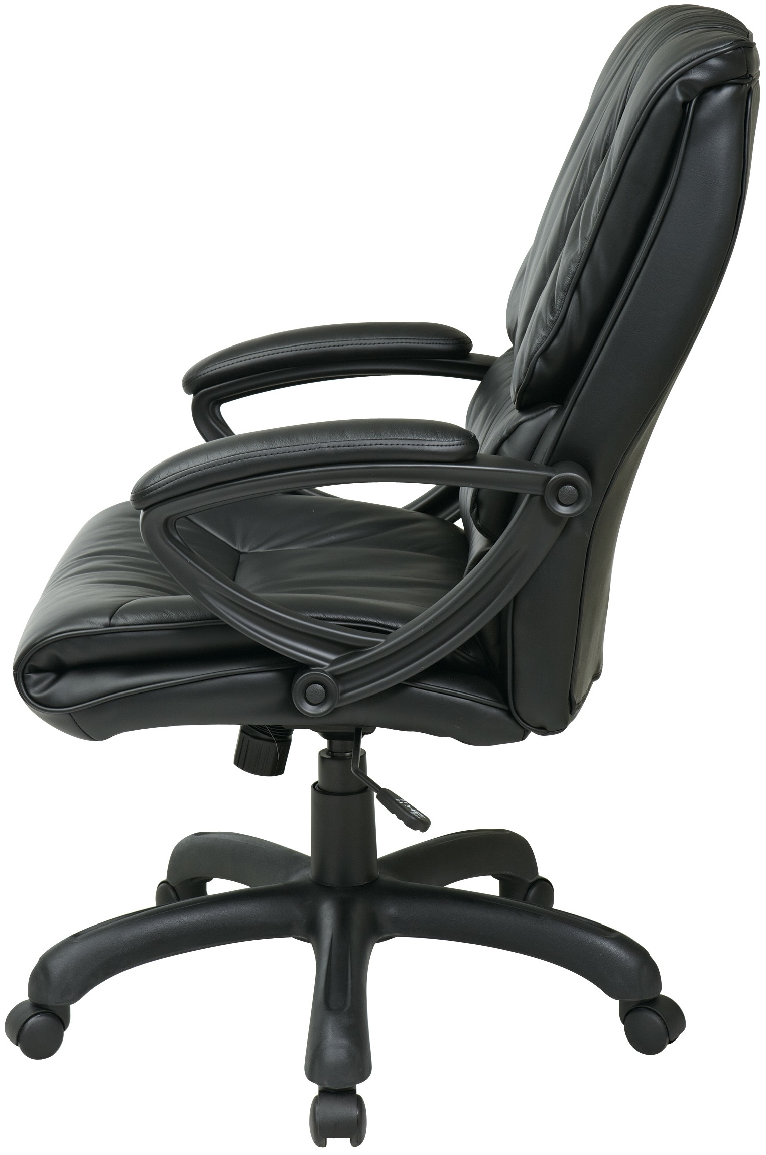 Executive Office Side Chairs Pertaining To Current Ex6710 Office Star – High Back Executive Chair With Loop Arms (View 8 of 20)