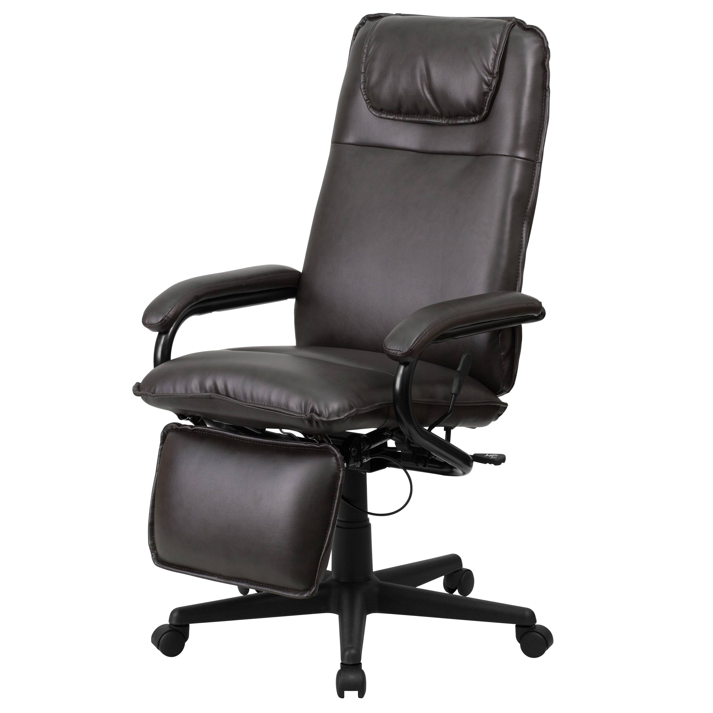 Executive Reclining Office Chairs Pertaining To Recent High Back Leather Executive Reclining Office Chair – Free Shipping (View 6 of 20)
