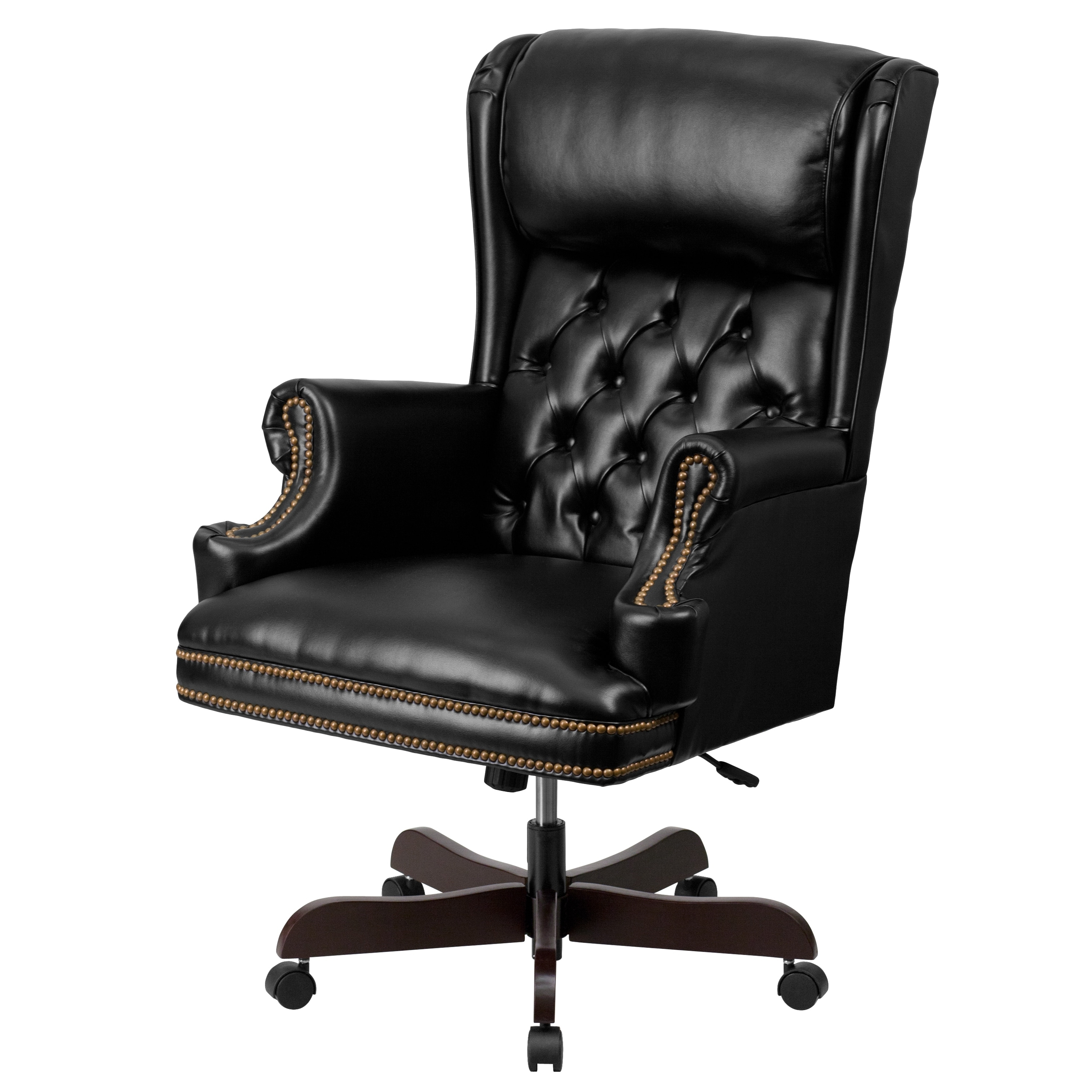 Expensive Executive Office Chairs Inside Popular High Back Traditional Tufted Leather Executive Office Chair – Free (View 9 of 20)