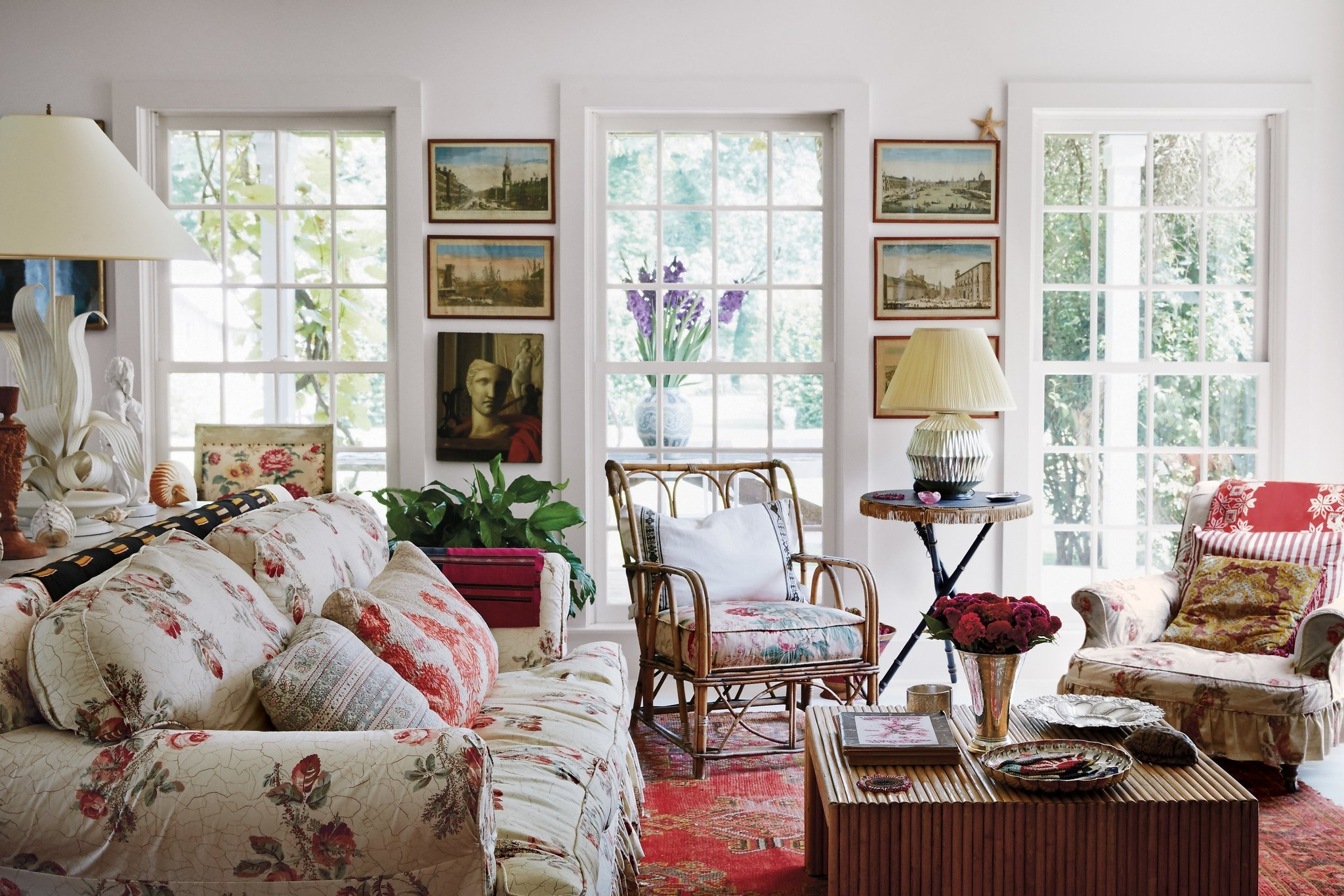 Exquisite Pleasures – The Living Room, With A Sofa And Armchairs Within Popular Chintz Sofas (View 8 of 20)