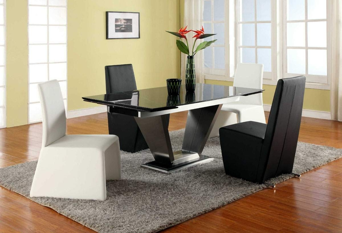 Extendable Rectangular Marble Leather Five Piece Modern Dining For Most Up To Date Sofa Chairs With Dining Table (View 15 of 20)