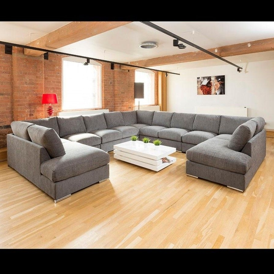Extra Large Sofas Intended For Favorite Extra Large Unique Sofa Set Settee Corner Group C Shape Grey  (View 3 of 20)