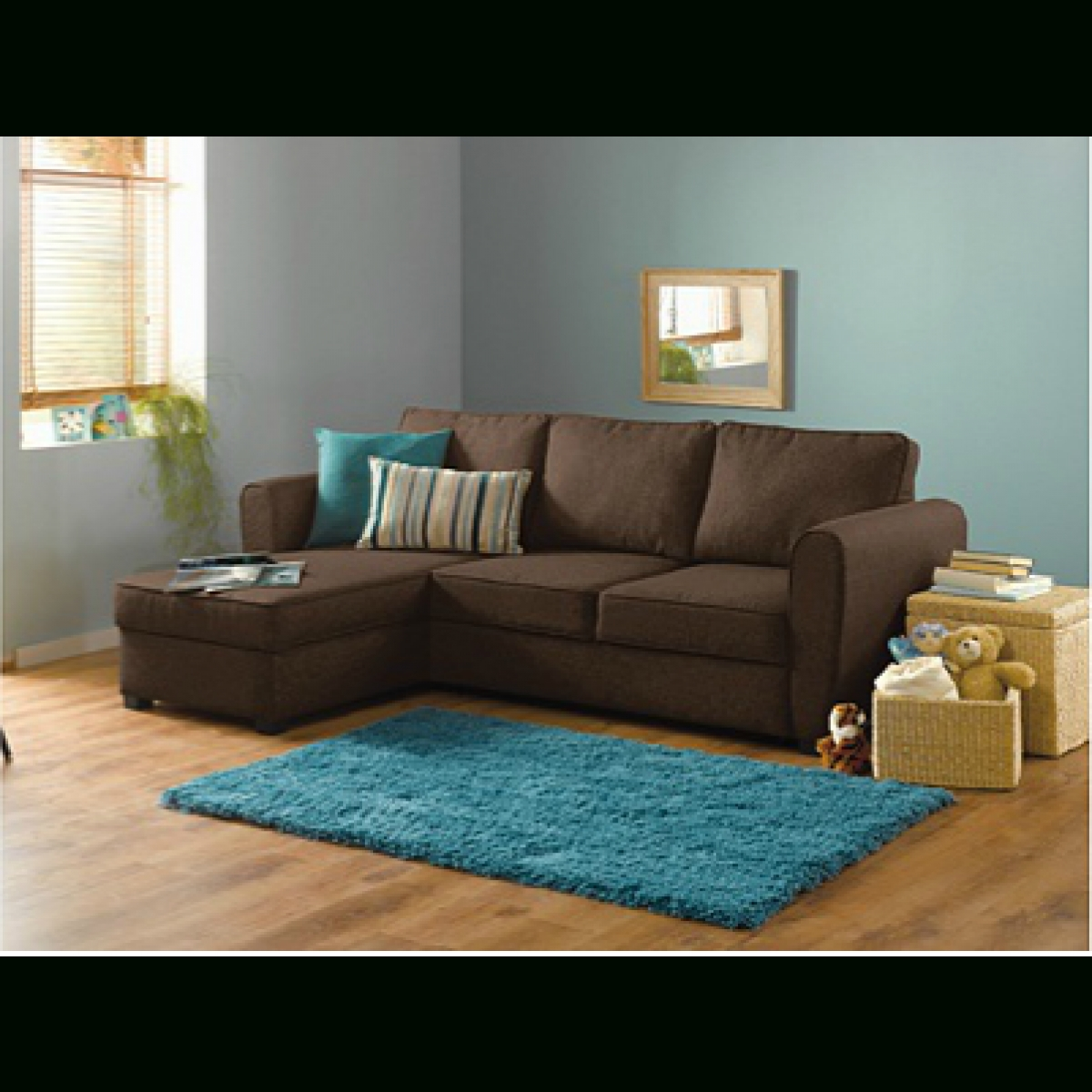 Fabric Corner Sofas Throughout Most Recent Home New Siena Fabric Corner Sofa Bed W/ Storage – Chocolate (View 5 of 20)