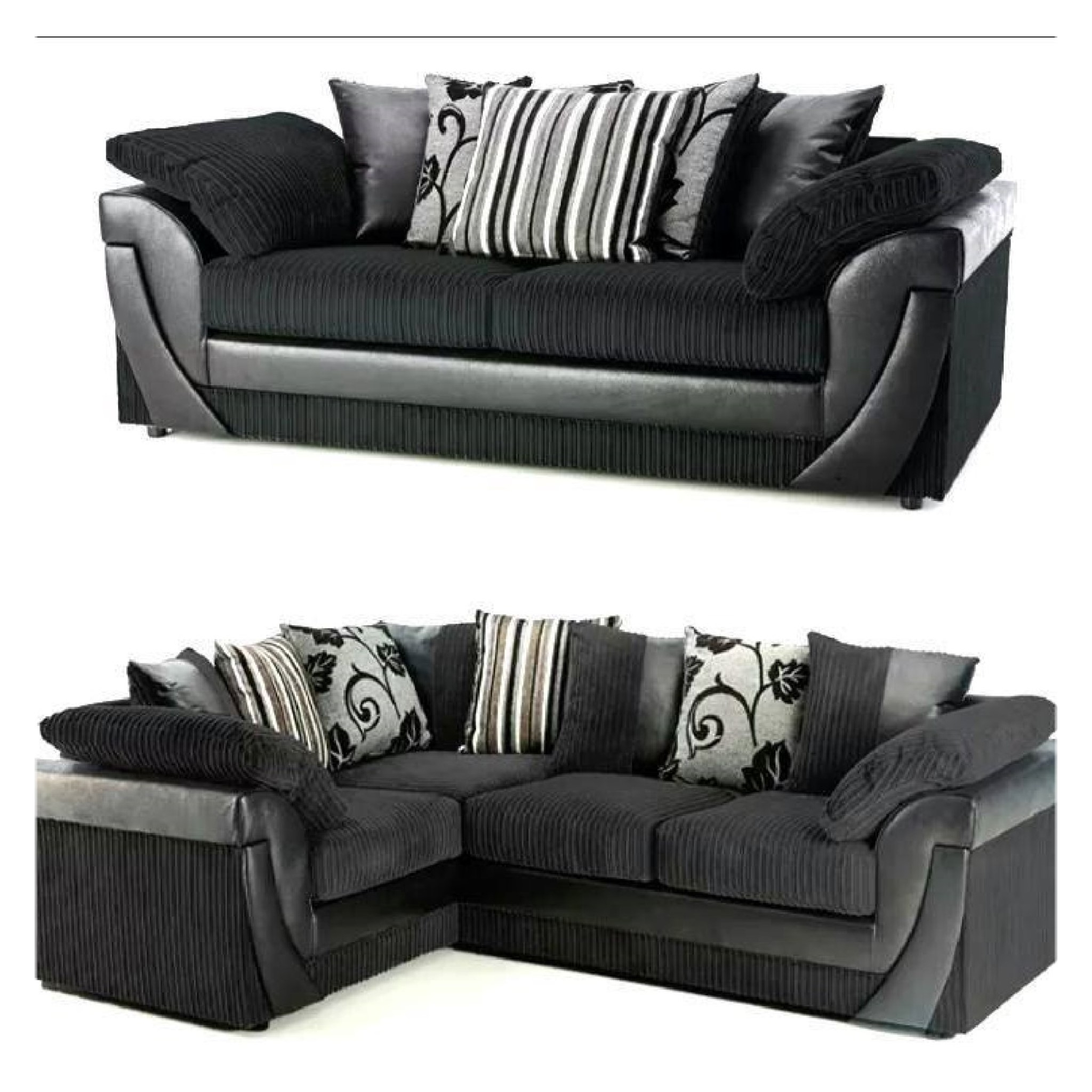 Fabric Corner Sofas With Trendy Lush Fabric Corner Sofa Set – Sofa Factory Uk (View 10 of 20)