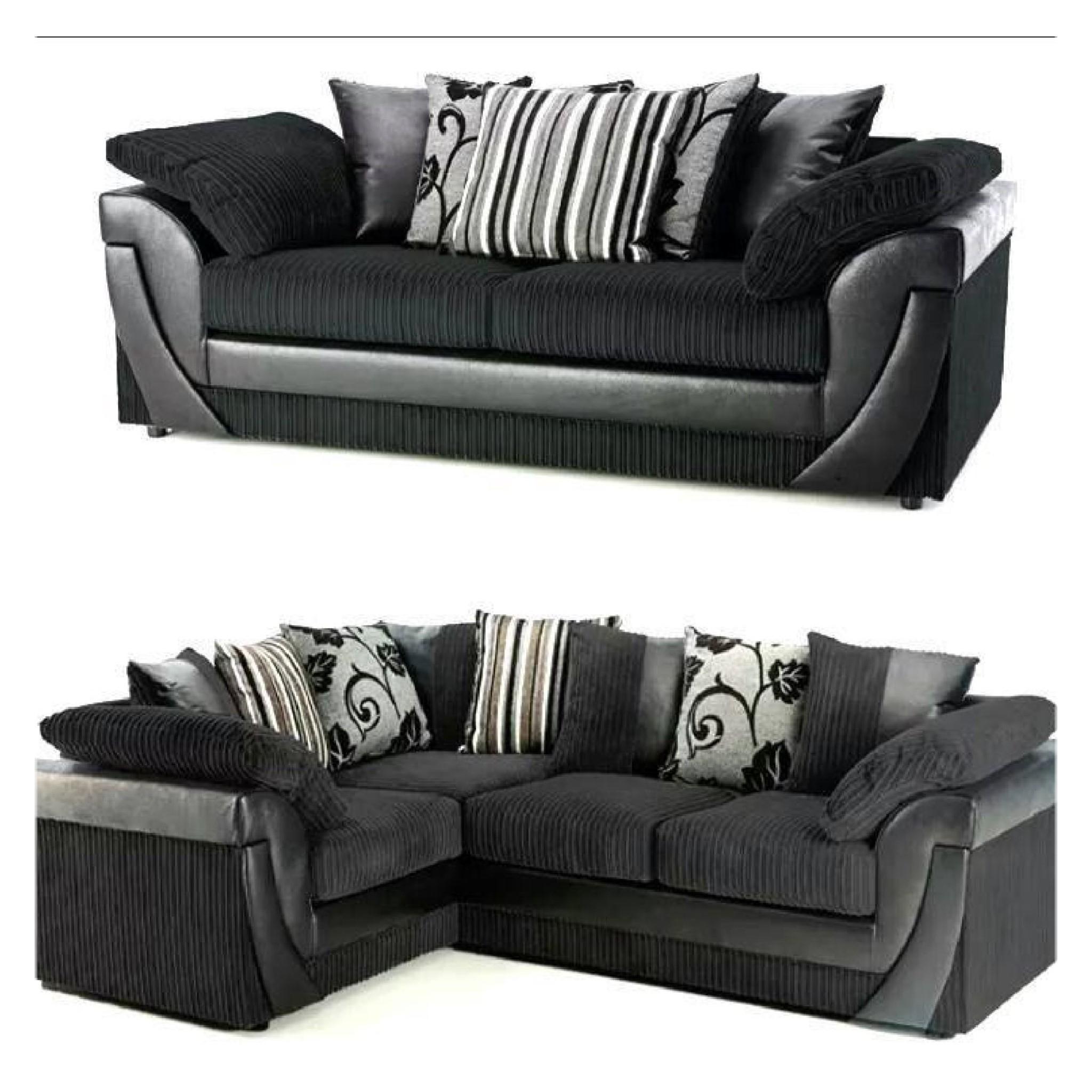 Fabric Corner Sofas With Trendy Lush Fabric Corner Sofa Set – Sofa Factory Uk (Gallery 20 of 20)