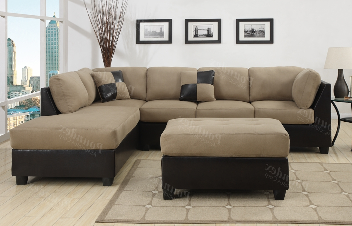 Fabric Sectional Fabric Ashley Furniture Sectional Sectional Sofas Intended For Favorite Leather And Suede Sectional Sofas (View 14 of 20)