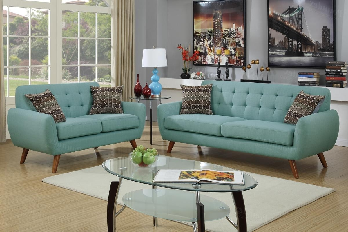Fabric Sofas With Regard To Favorite Green Fabric Sofa And Loveseat Set – Steal A Sofa Furniture Outlet (View 8 of 20)