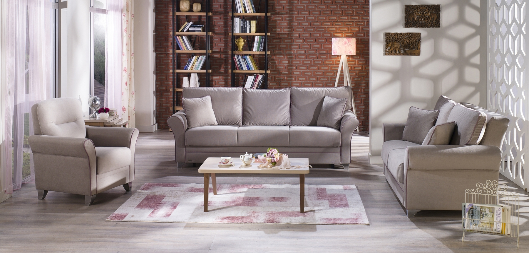 Fabric Sofas With Regard To Recent Padova Paris Gray Sofa Padova Sunset Furniture Fabric Sofas At (View 12 of 20)