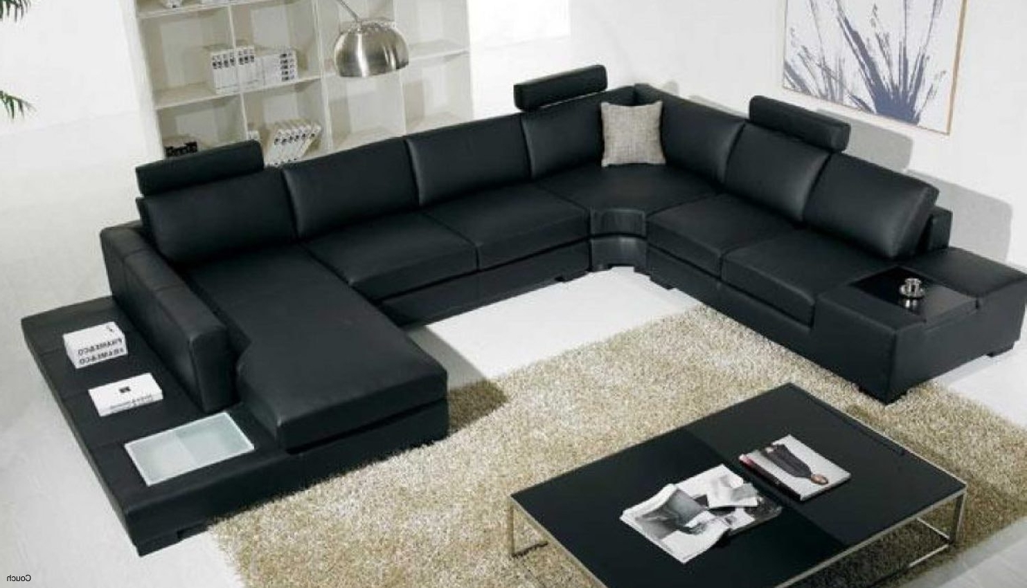 Fabulous Inspirative Leather Black Walmart Sofa Bed And Standing Inside Most Up To Date Halifax Sectional Sofas (View 17 of 20)