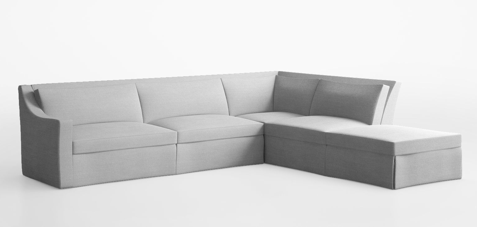 Famous 3d Model Modular Corner Sofa (View 6 of 20)